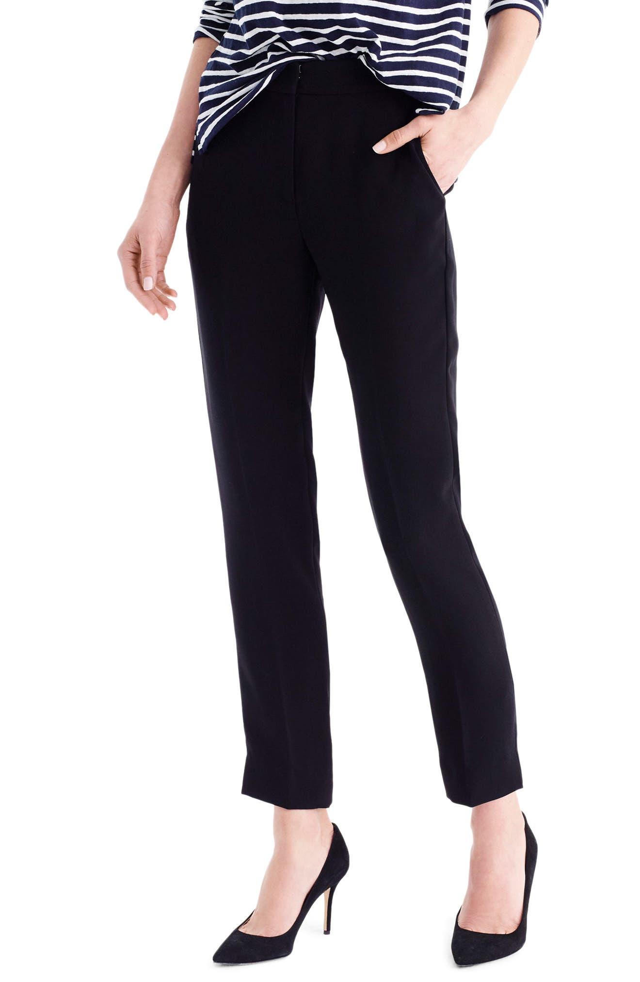 J.CREW New Easy Matte Crepe Pants, Main, color, 001