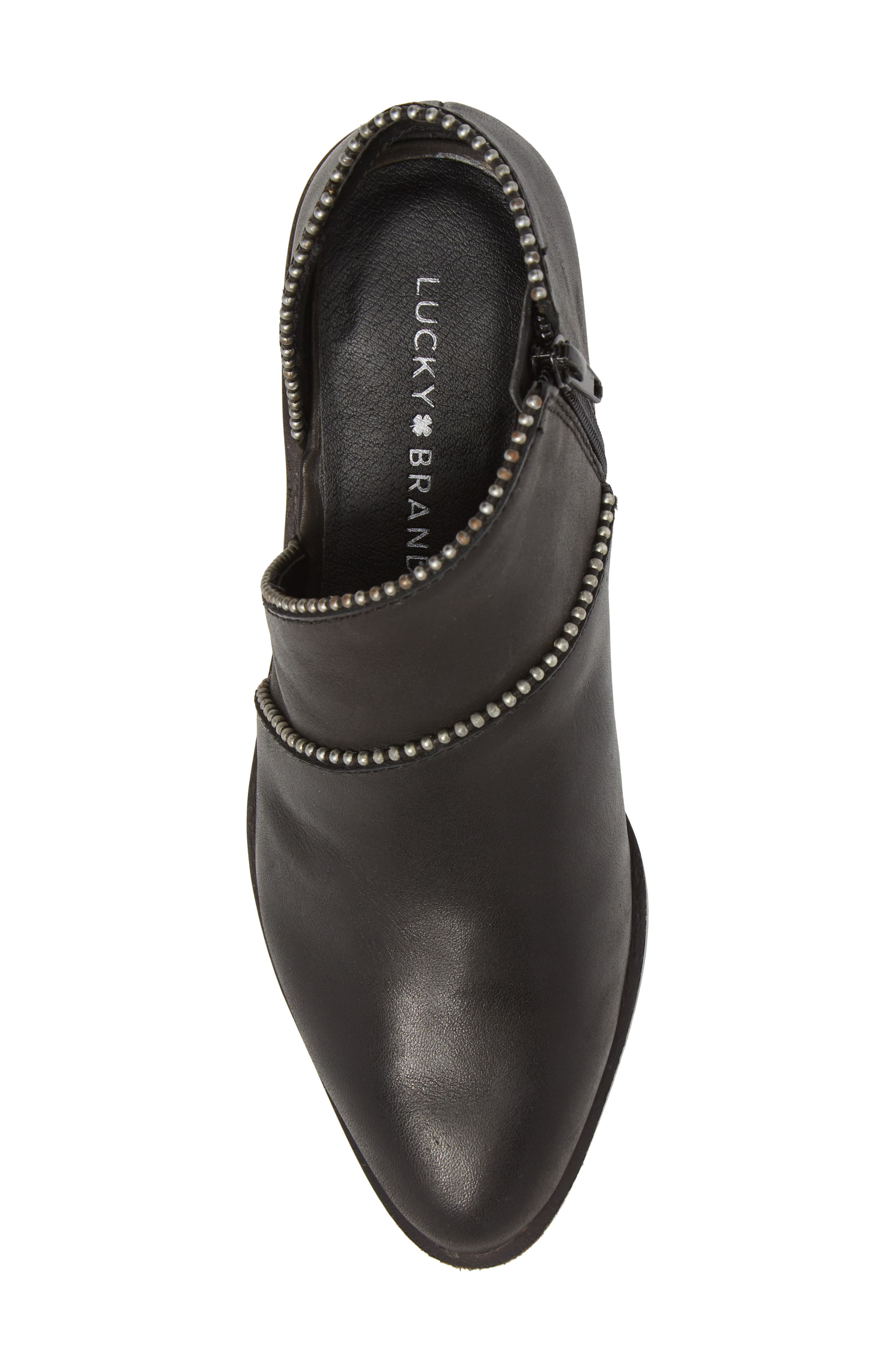 Prucella Bootie,                             Alternate thumbnail 5, color,                             BLACK LEATHER