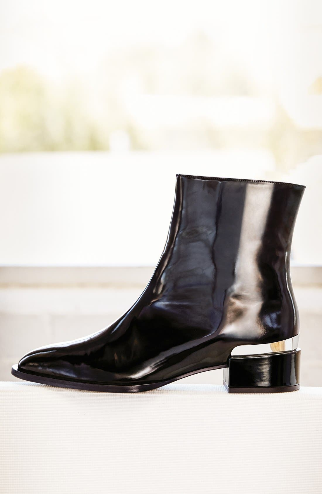 'Yasmin' Pointy Toe Boot,                             Alternate thumbnail 5, color,                             001