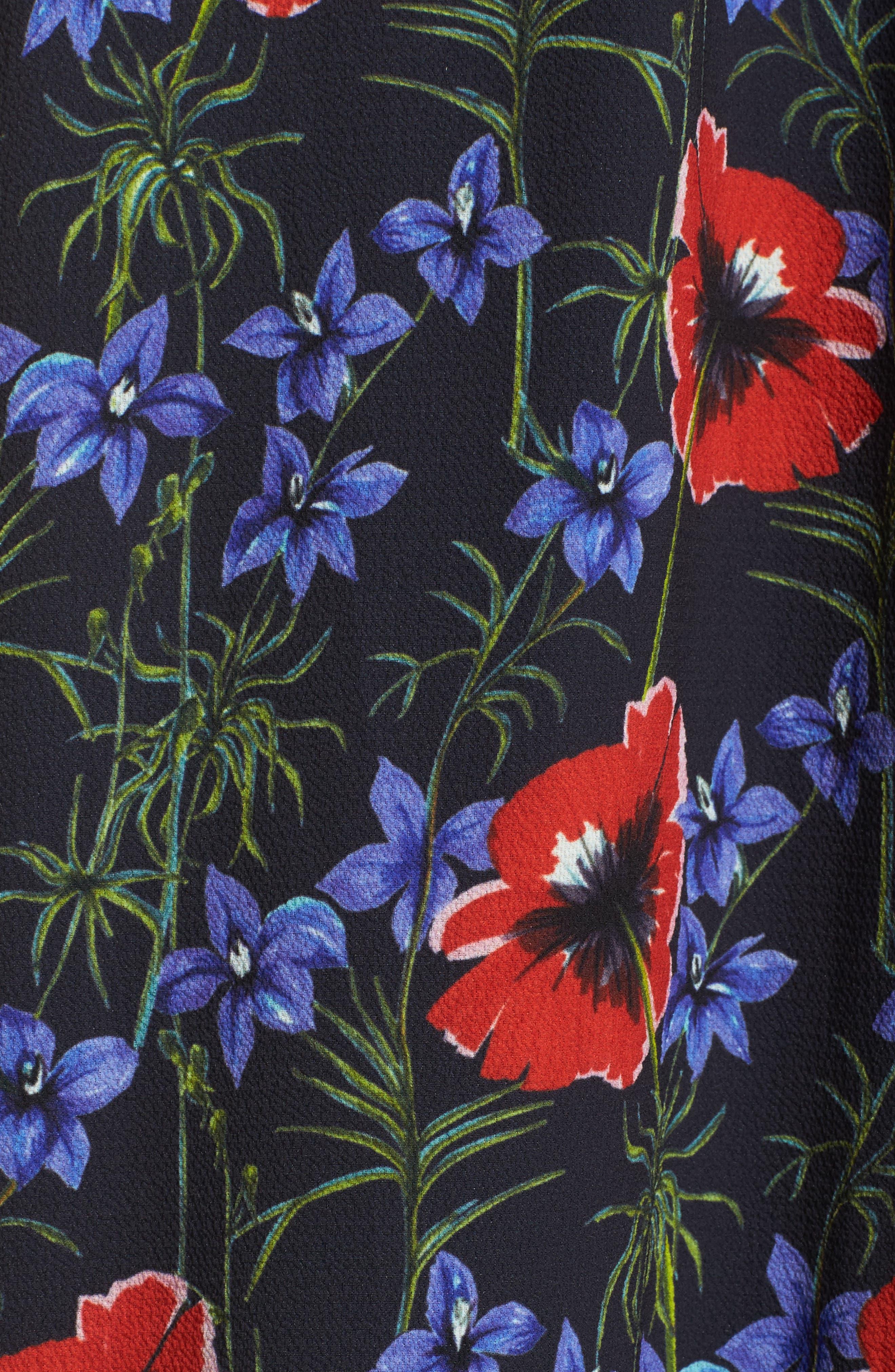 Celia Mix Floral Maxi Dress,                             Alternate thumbnail 5, color,                             451