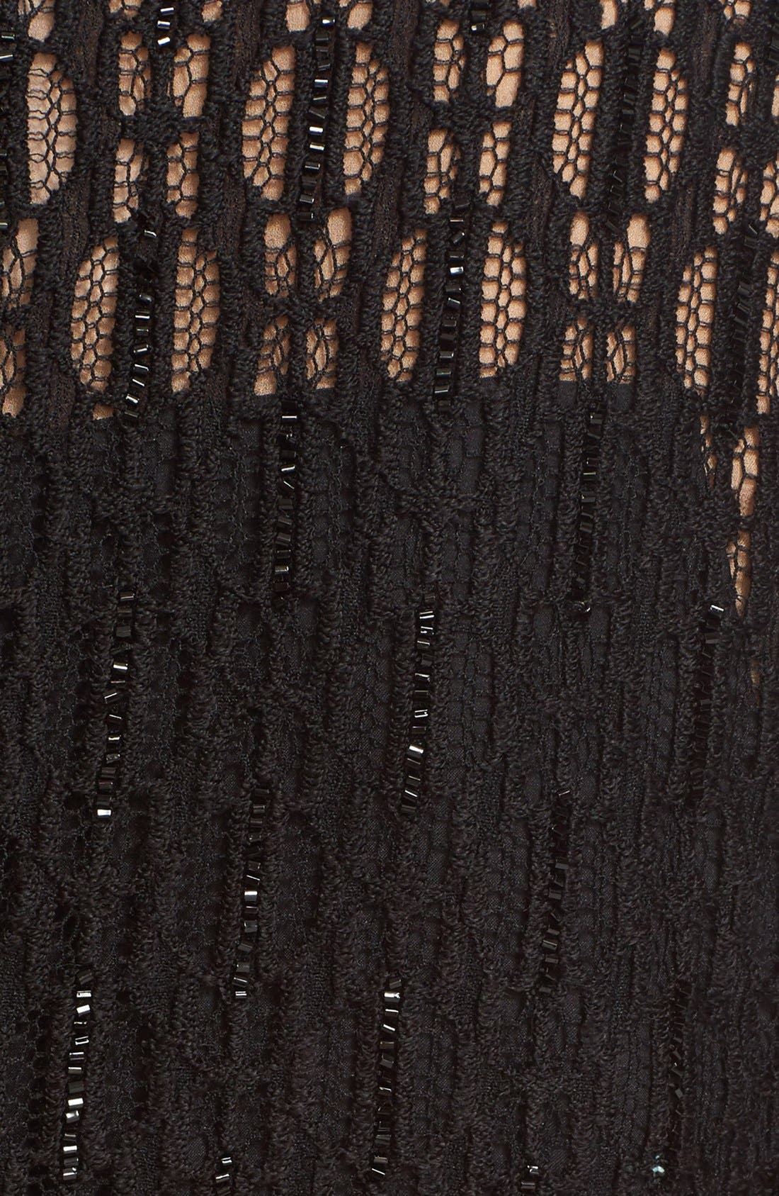 Embellished Illusion Lace Knit Sheath Dress,                             Alternate thumbnail 2, color,                             001