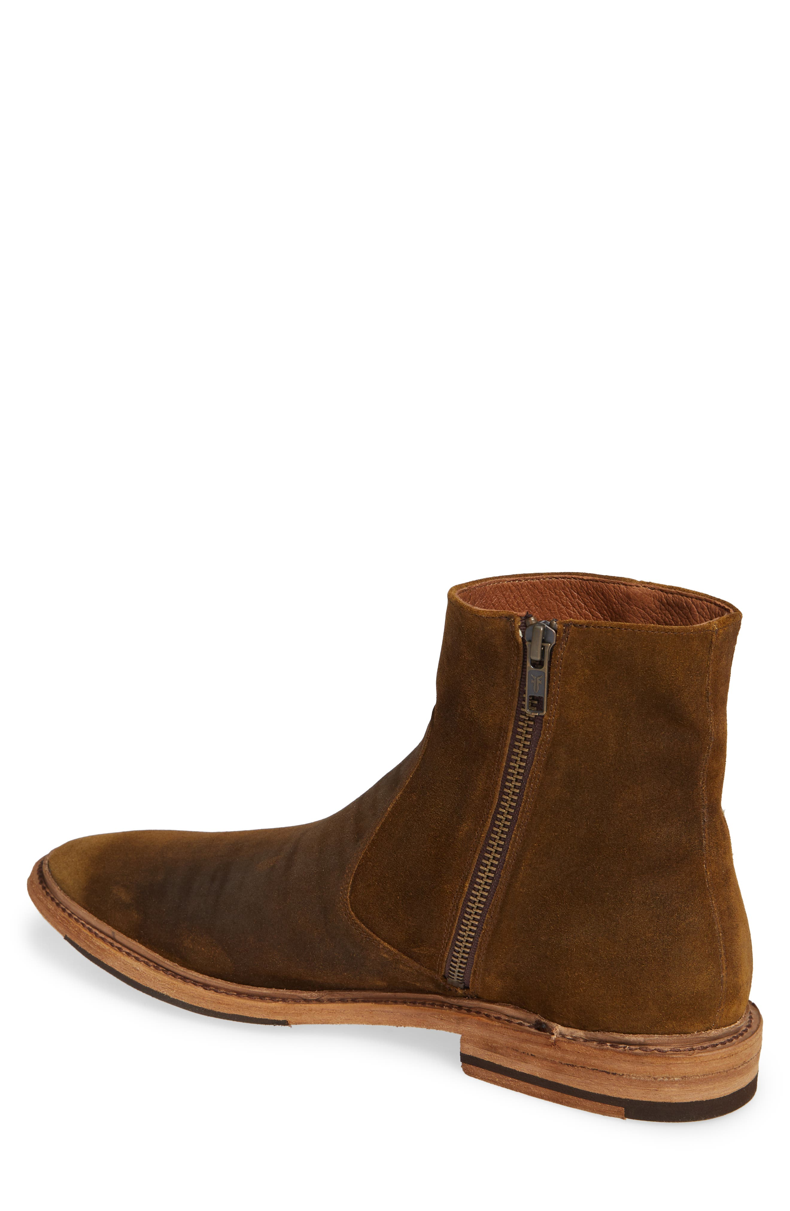 Paul Zip Boot,                             Alternate thumbnail 2, color,                             TAN SUEDE