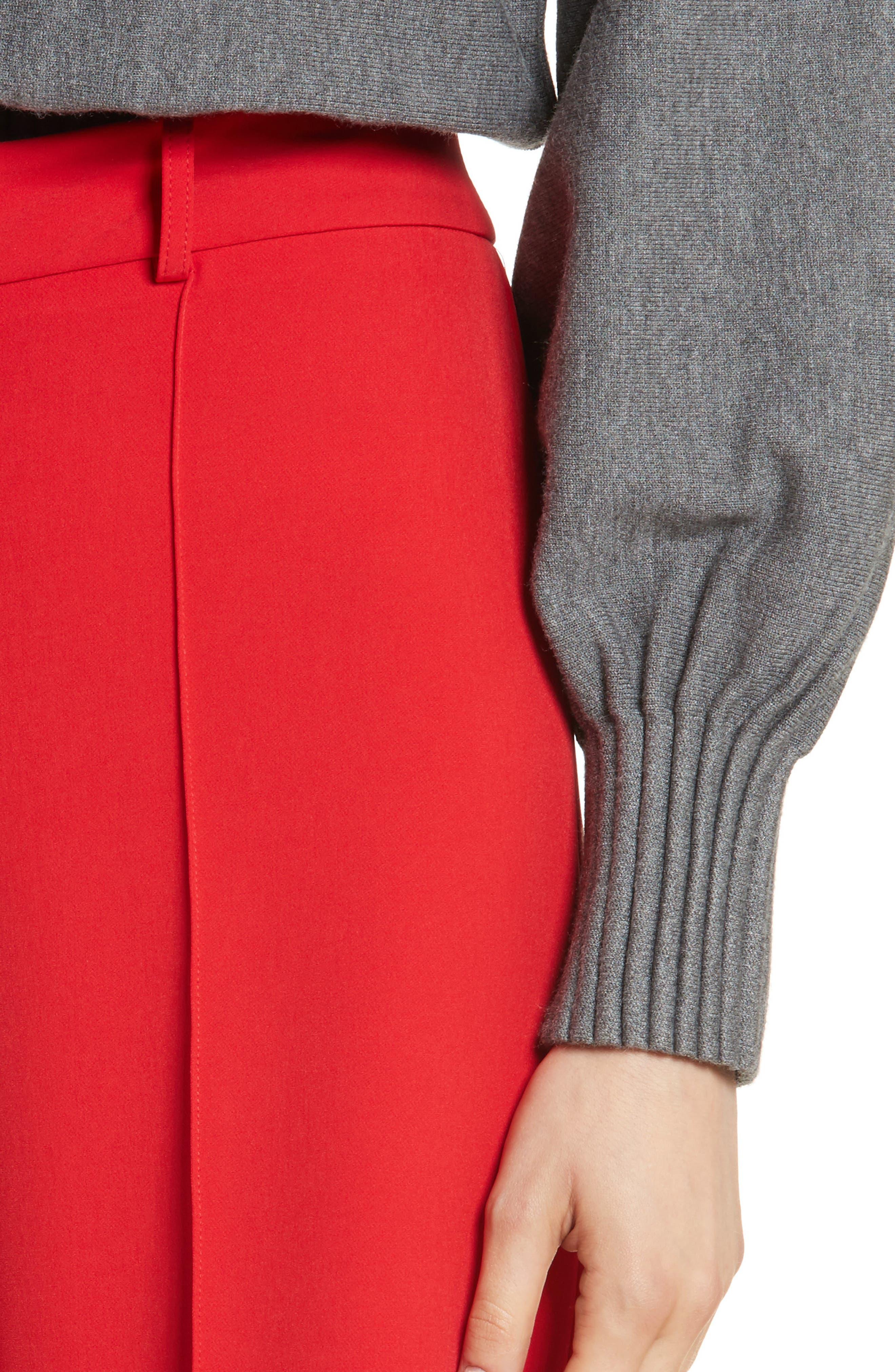 Hayden Italian Cady Crop Pants,                             Alternate thumbnail 4, color,                             649