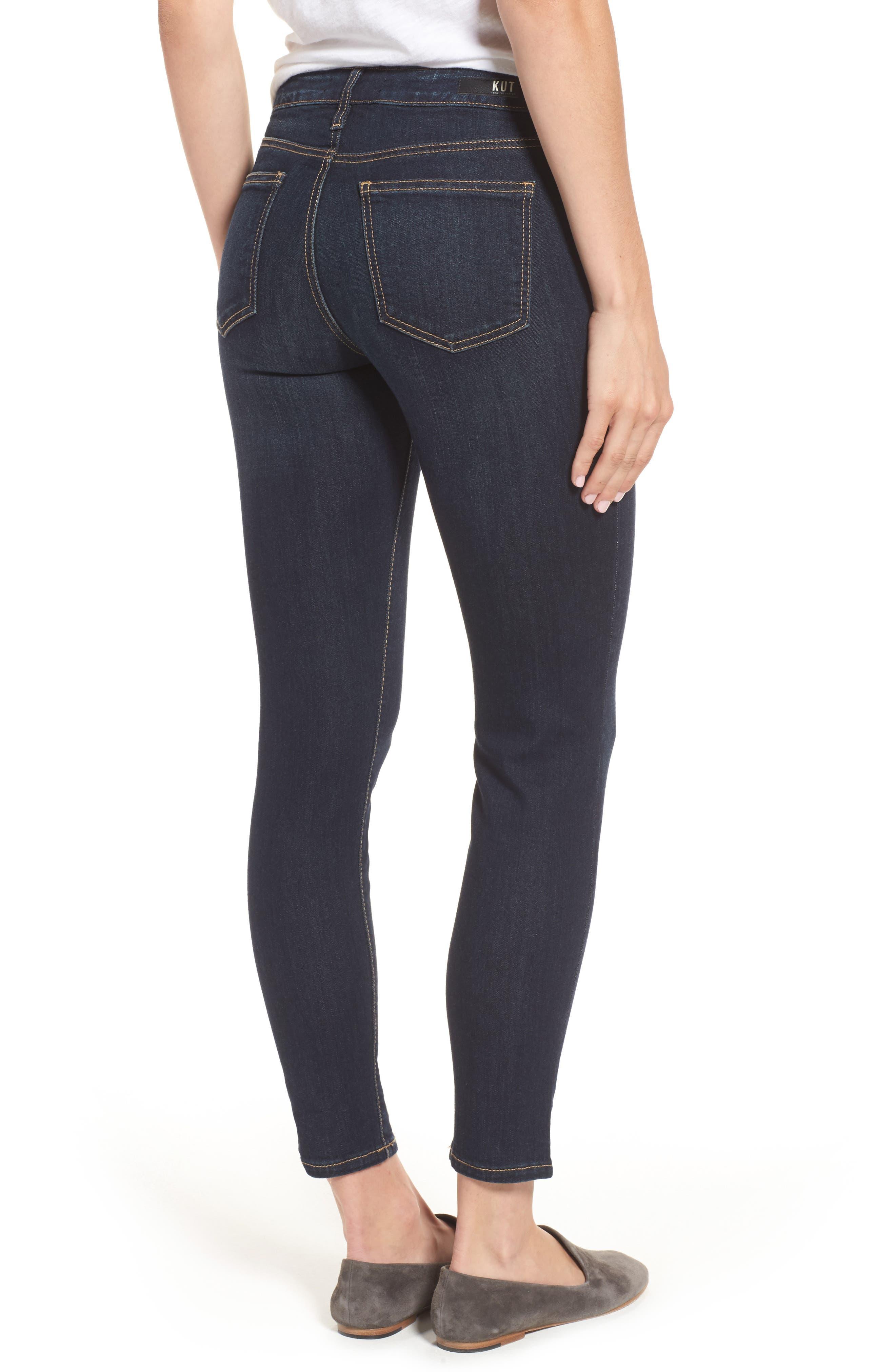 Diana Kurvy Stretch Ankle Jeans,                             Alternate thumbnail 2, color,                             490
