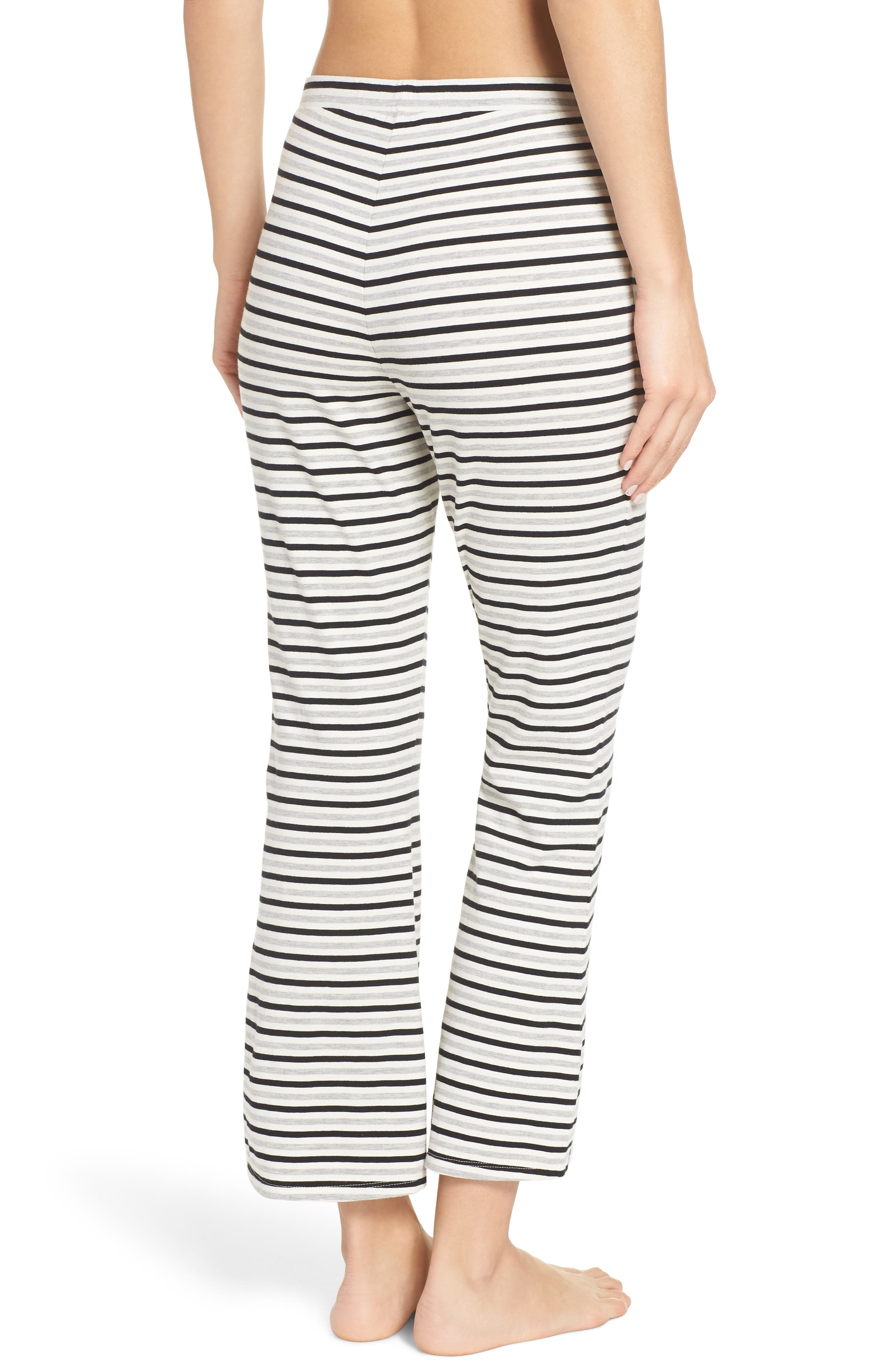 Flare for Drama Crop Lounge Pants,                             Alternate thumbnail 2, color,                             IVORY
