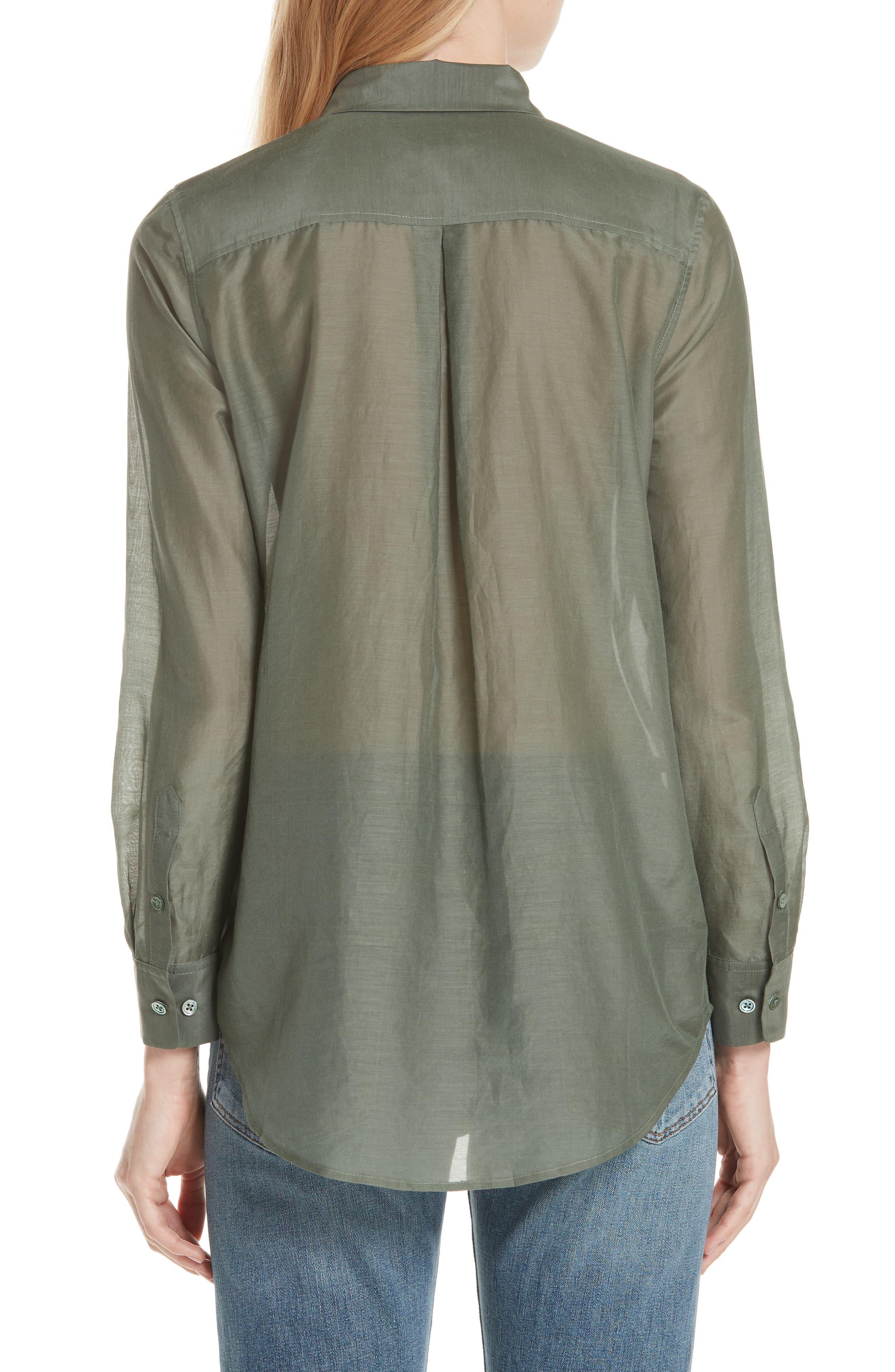 Essential Cotton & Silk Shirt,                             Alternate thumbnail 2, color,
