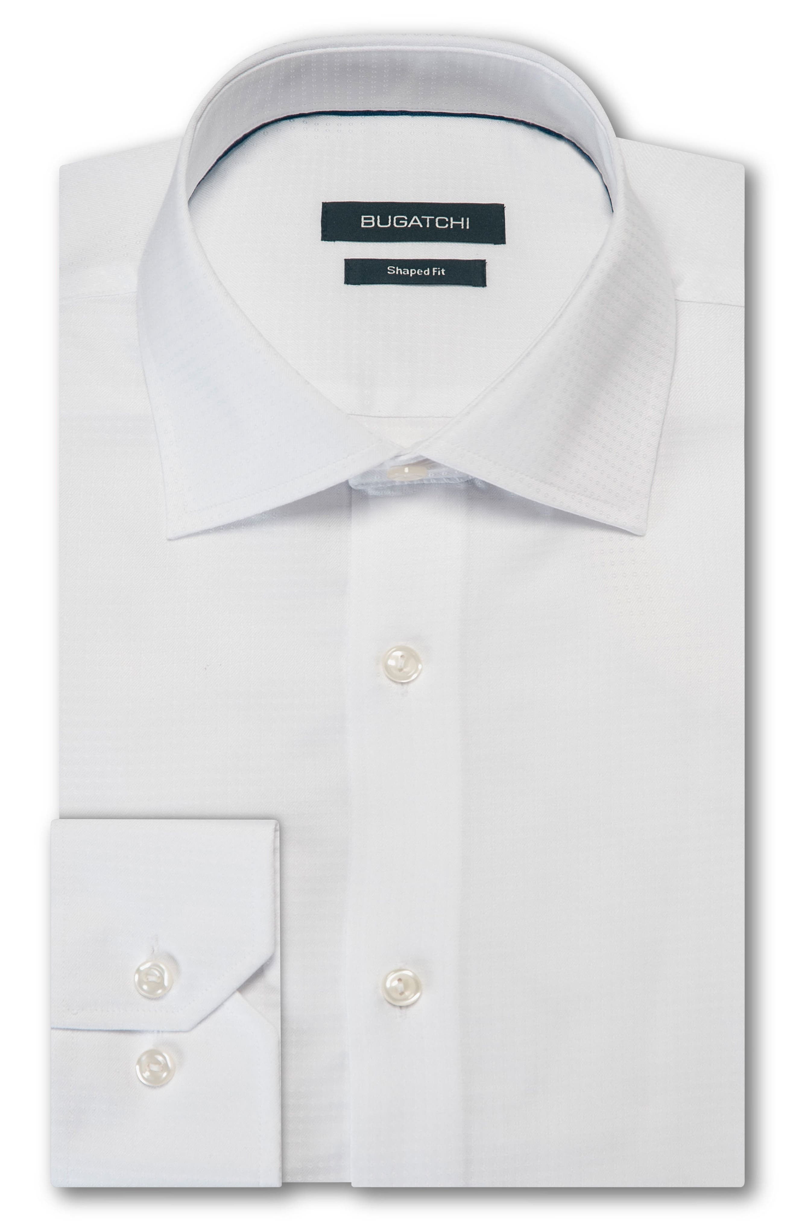 Trim Fit Solid Dress Shirt,                             Main thumbnail 1, color,                             100