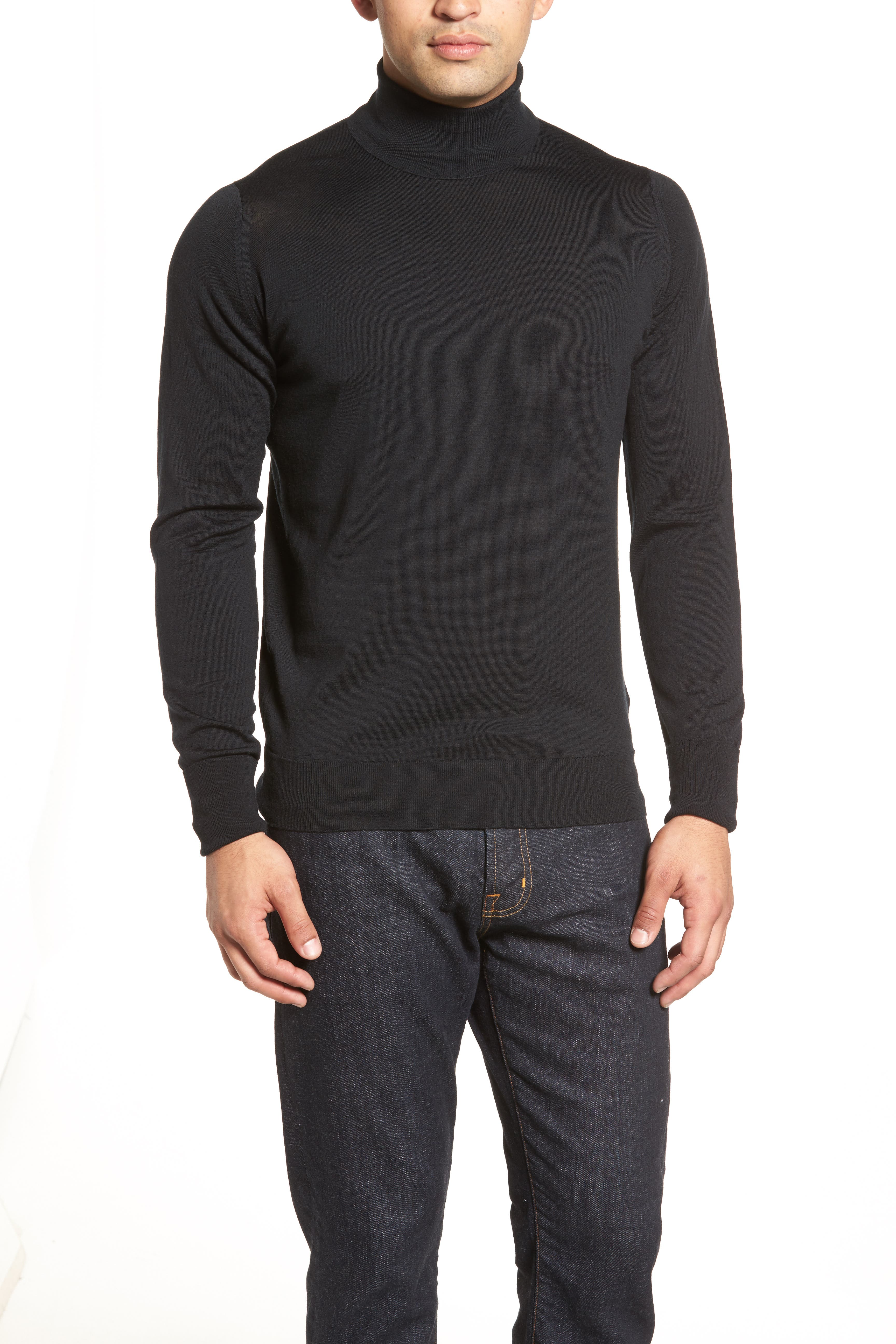 'Richards' Easy Fit Turtleneck Wool Sweater,                             Alternate thumbnail 41, color,