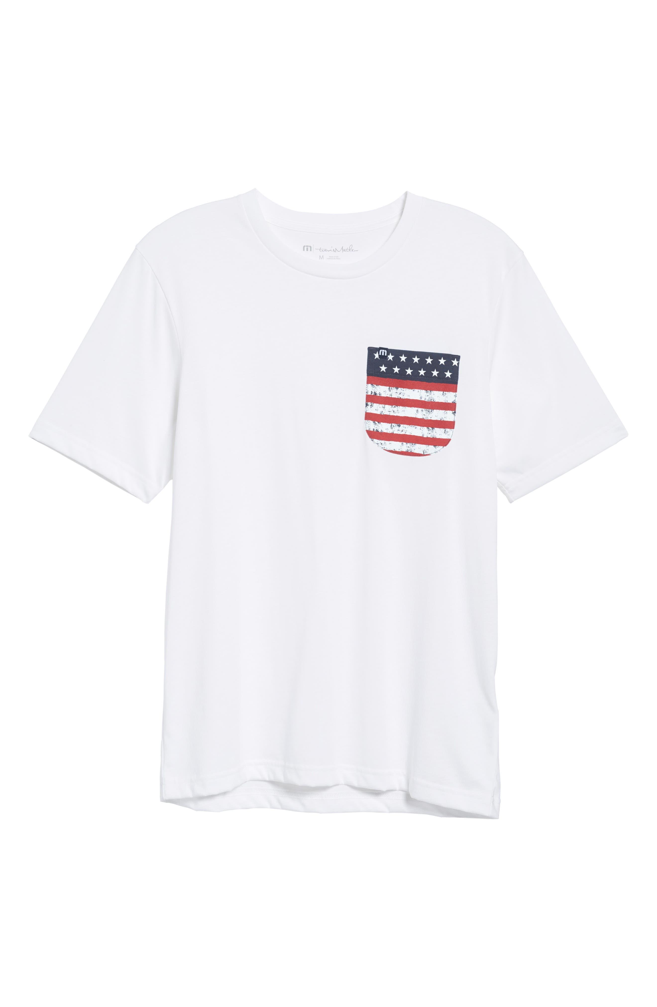 Chocolate Barrels Crewneck T-Shirt,                             Alternate thumbnail 6, color,                             WHITE