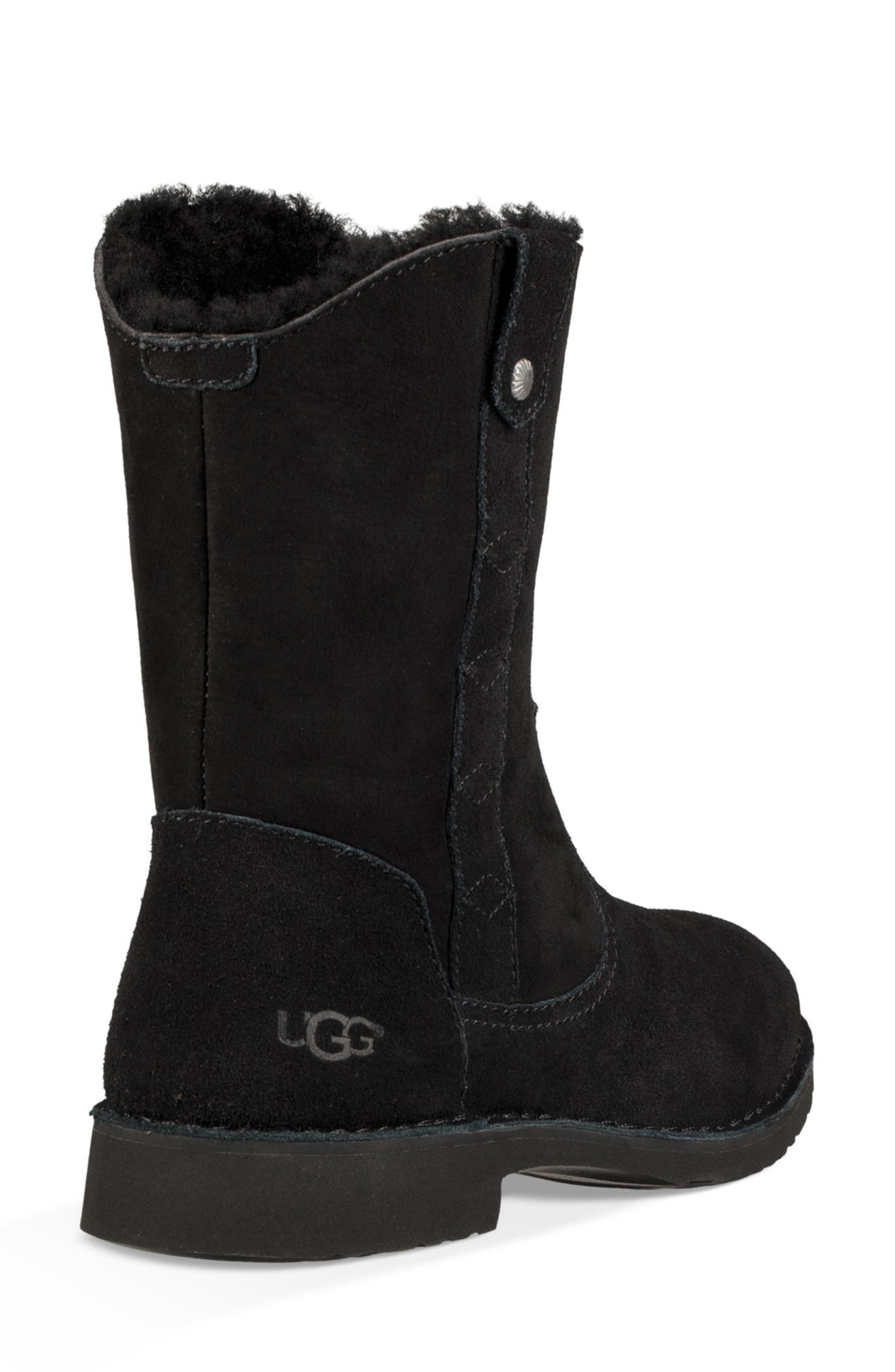 Larker Boot,                             Alternate thumbnail 2, color,                             BLACK SUEDE