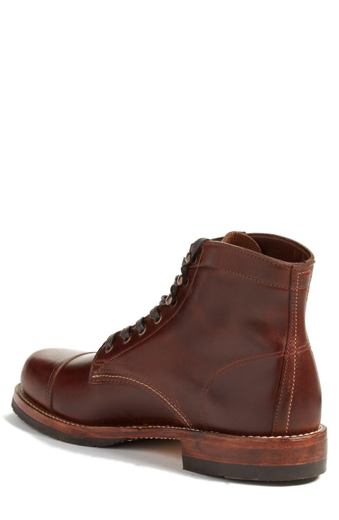 'Adrian' Cap Toe Boot,                             Alternate thumbnail 4, color,