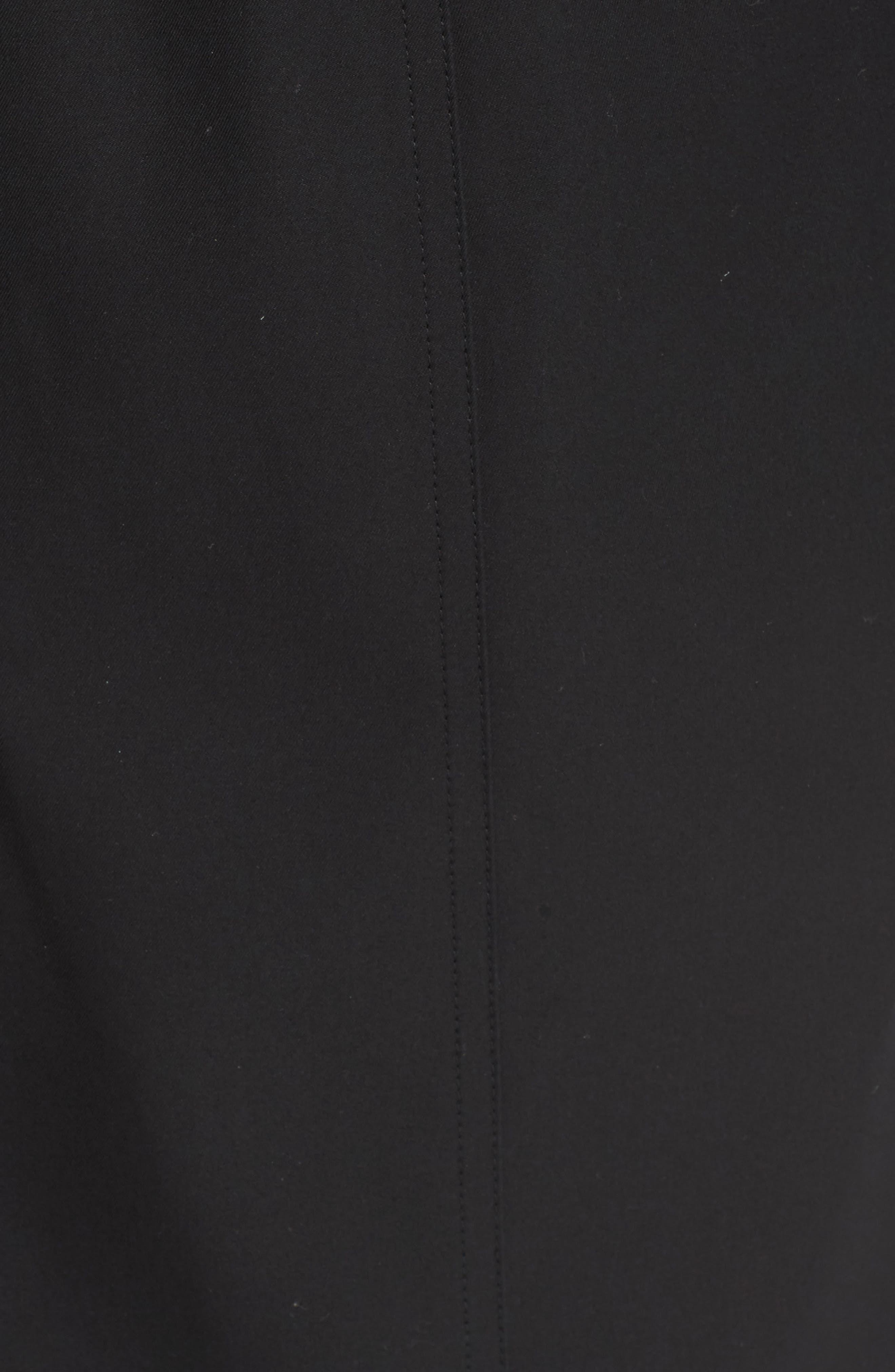 Sandringham Long Slim Trench Coat,                             Alternate thumbnail 6, color,                             BLACK