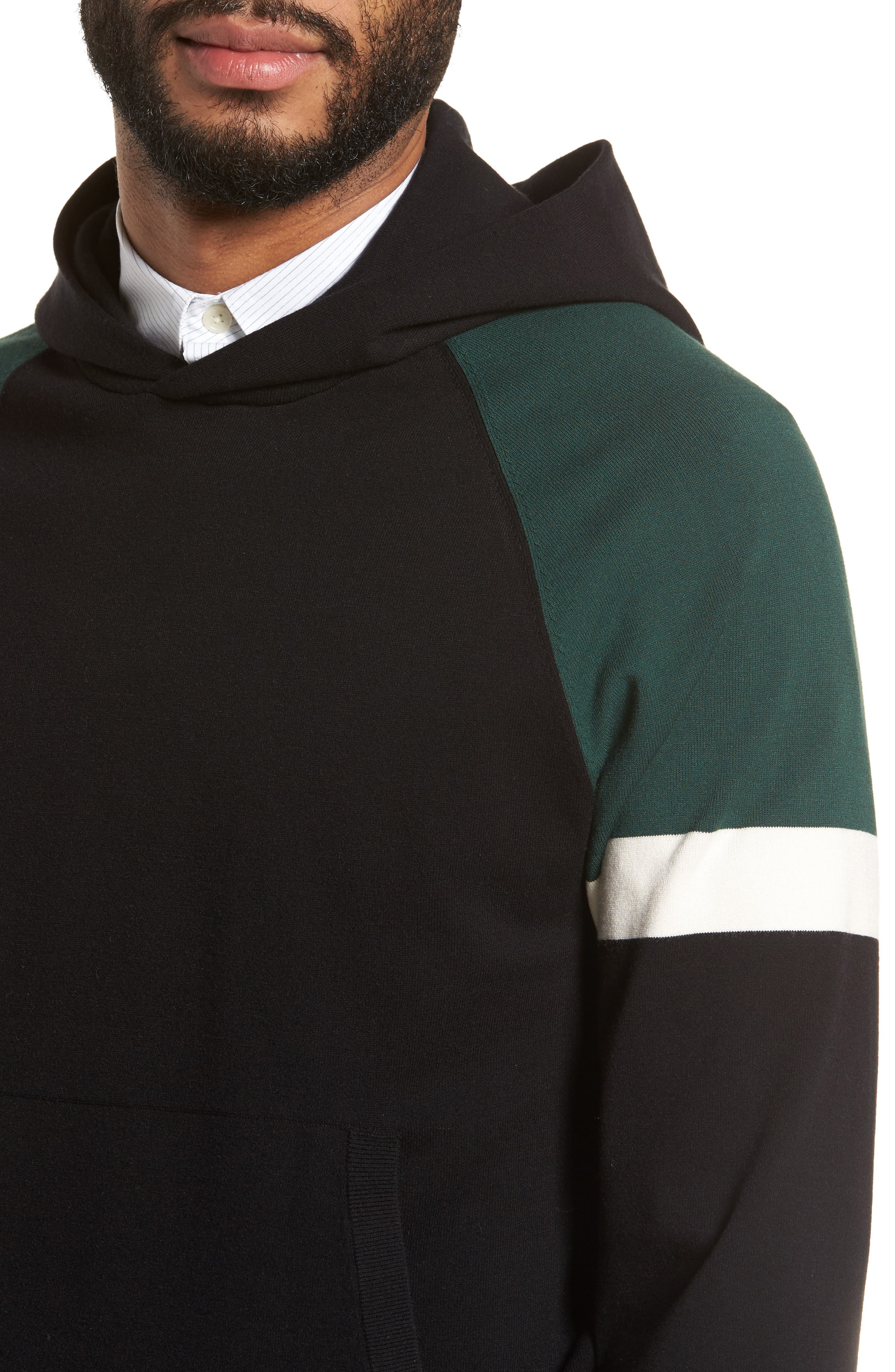 Colorblocked Pullover Hoodie,                             Alternate thumbnail 7, color,