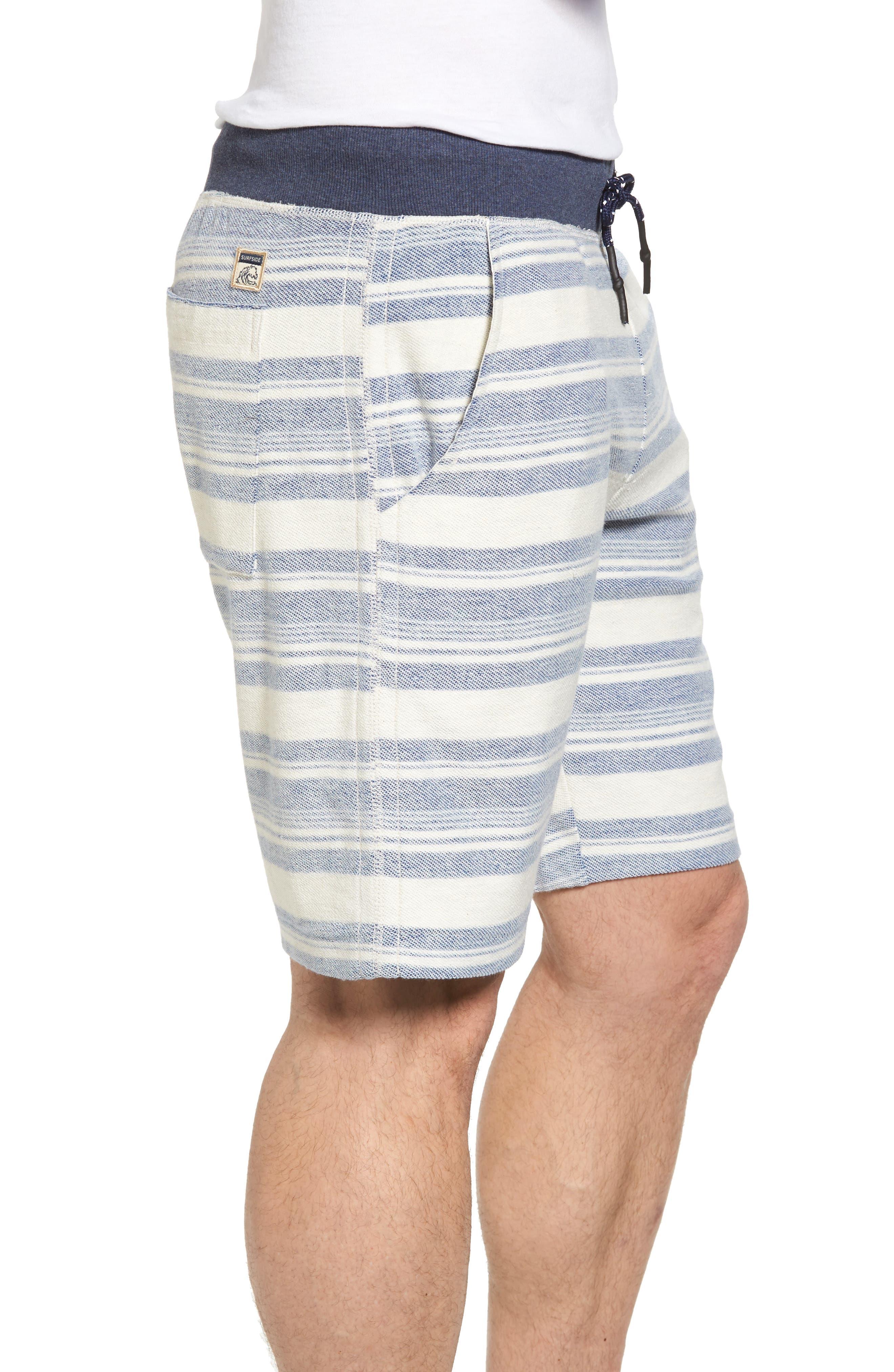 Stripe Reverse Terry Shorts,                             Alternate thumbnail 3, color,                             461