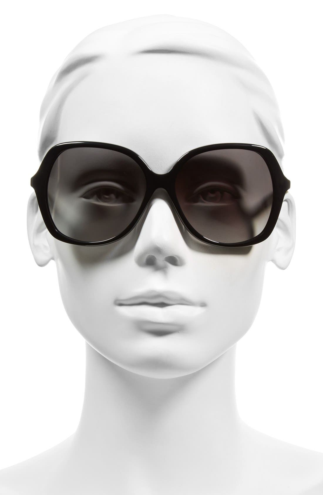 KATE SPADE NEW YORK,                             'jonell' 58mm oversized sunglasses,                             Alternate thumbnail 2, color,                             001