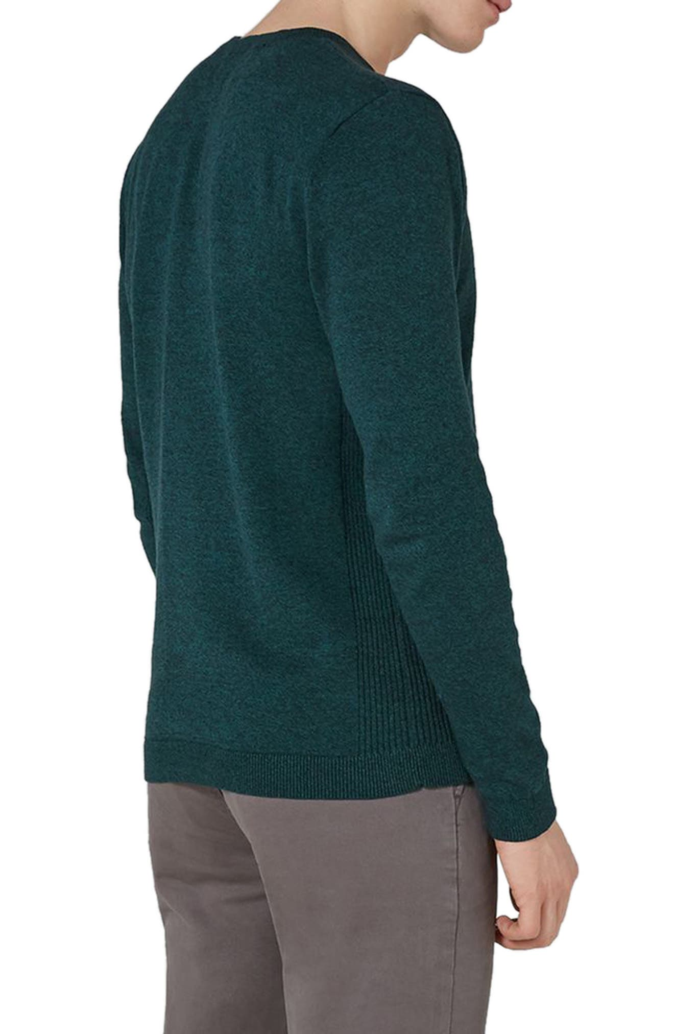 Side Ribbed Slim Fit Sweater,                             Alternate thumbnail 12, color,
