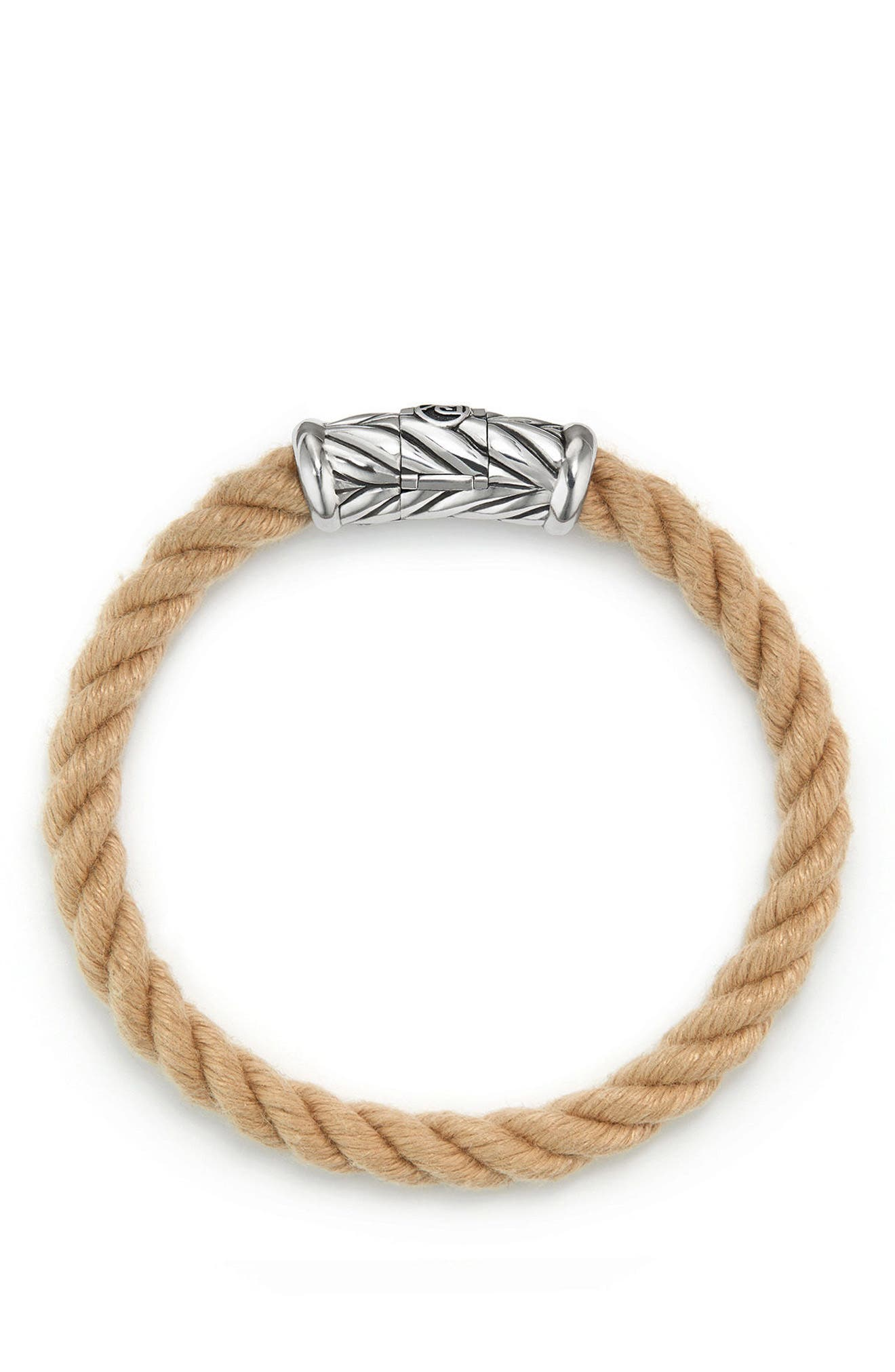 Maritime Rope Bracelet,                             Alternate thumbnail 3, color,                             SILVER