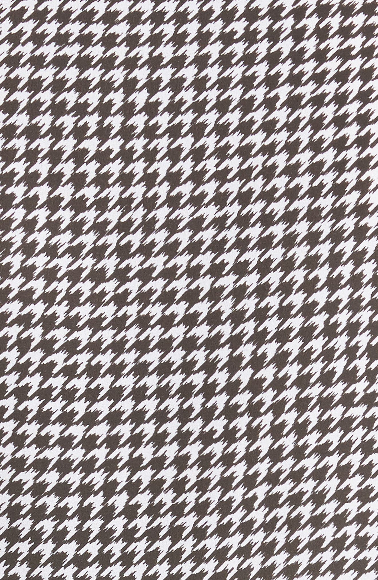 Houndstooth Silk Georgette Shirt,                             Alternate thumbnail 5, color,                             003