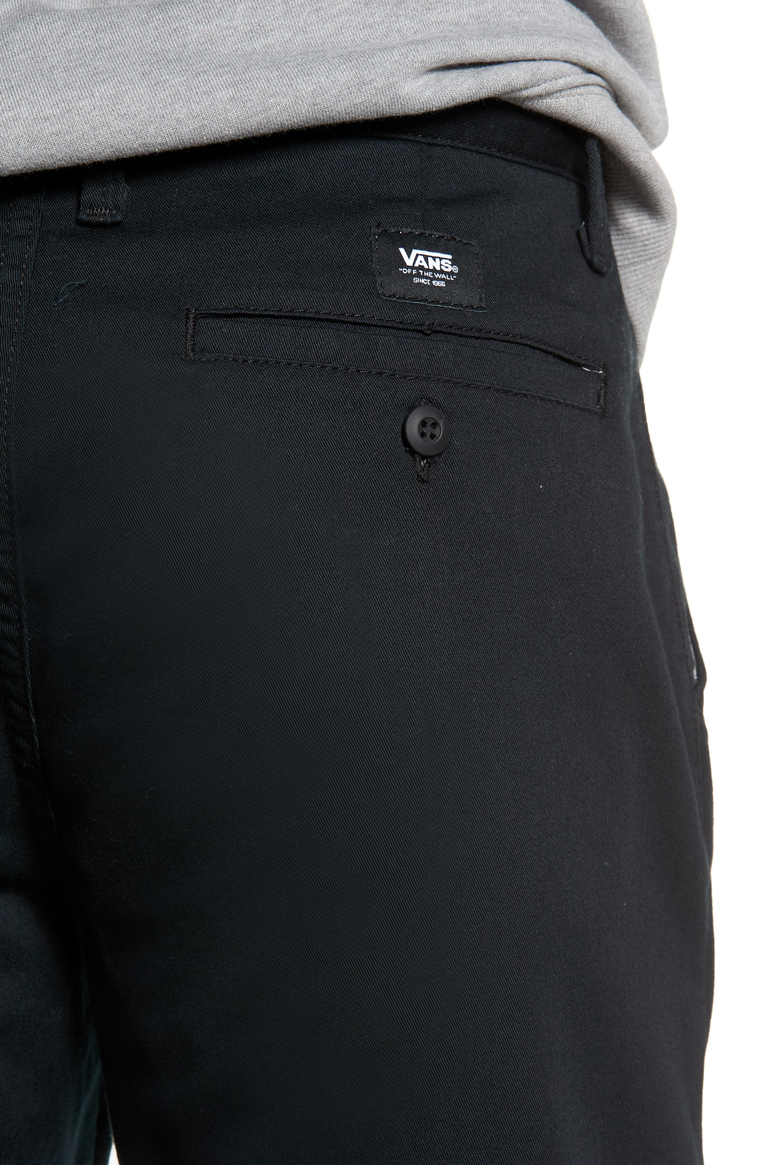 Stretch Twill Chino Shorts,                             Alternate thumbnail 4, color,                             BLACK