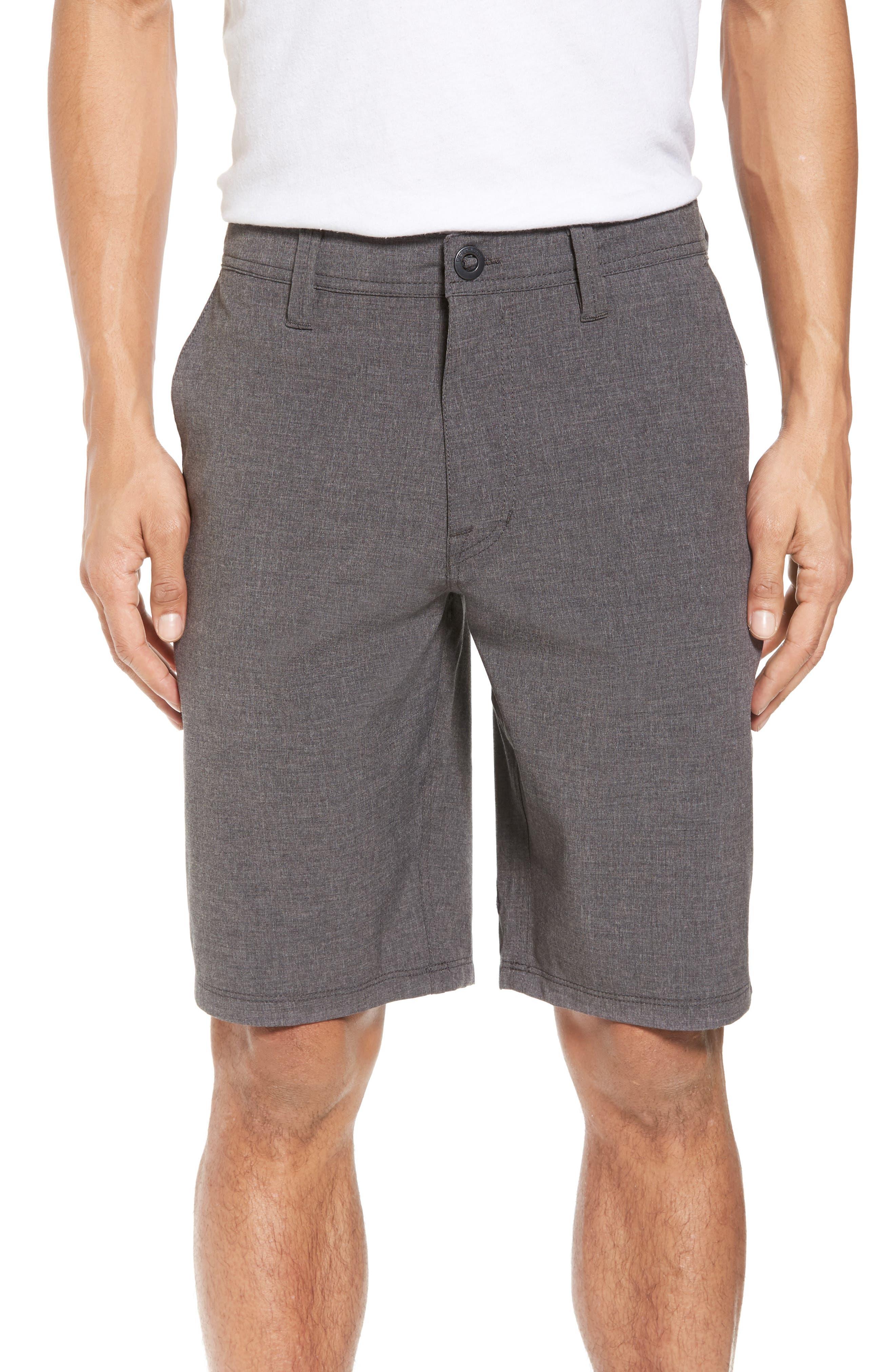 Hybrid Shorts,                             Main thumbnail 1, color,                             CHARCOAL