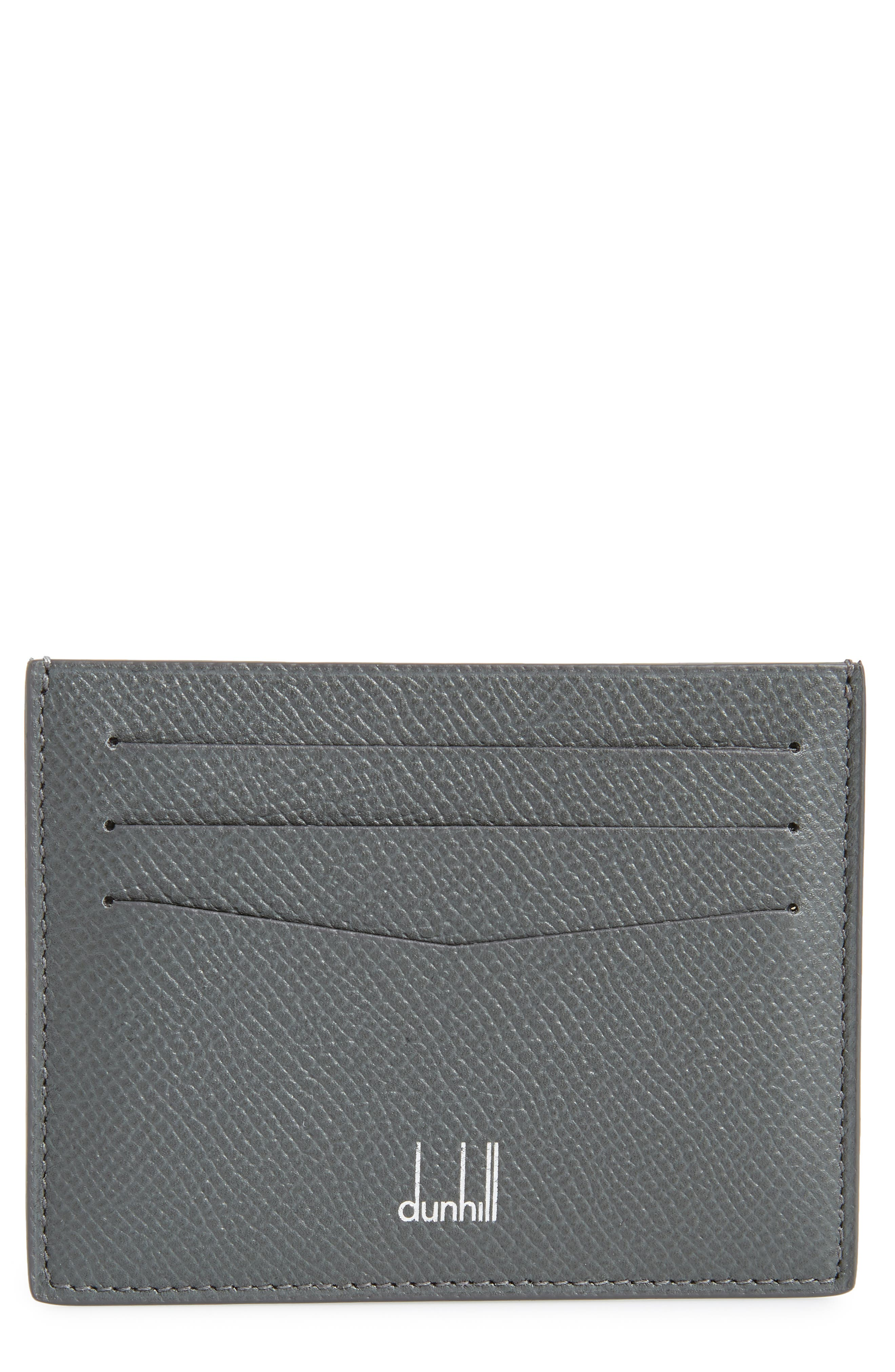 Cadogan Leather Card Case,                             Main thumbnail 1, color,                             GREY