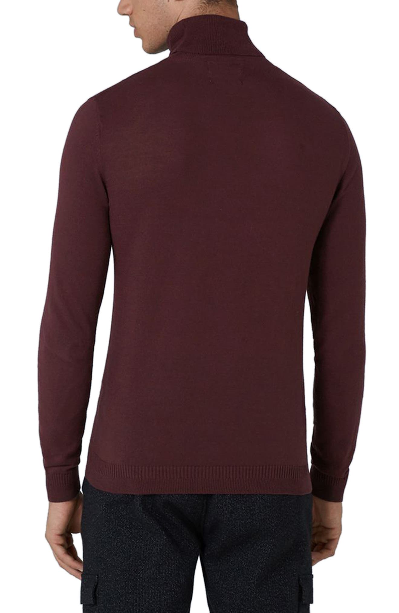 Cotton Turtleneck Sweater,                             Alternate thumbnail 6, color,