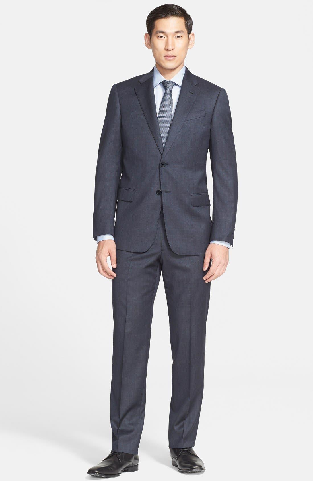 'G-Line' Trim Fit Solid Wool Suit,                         Main,                         color, 410
