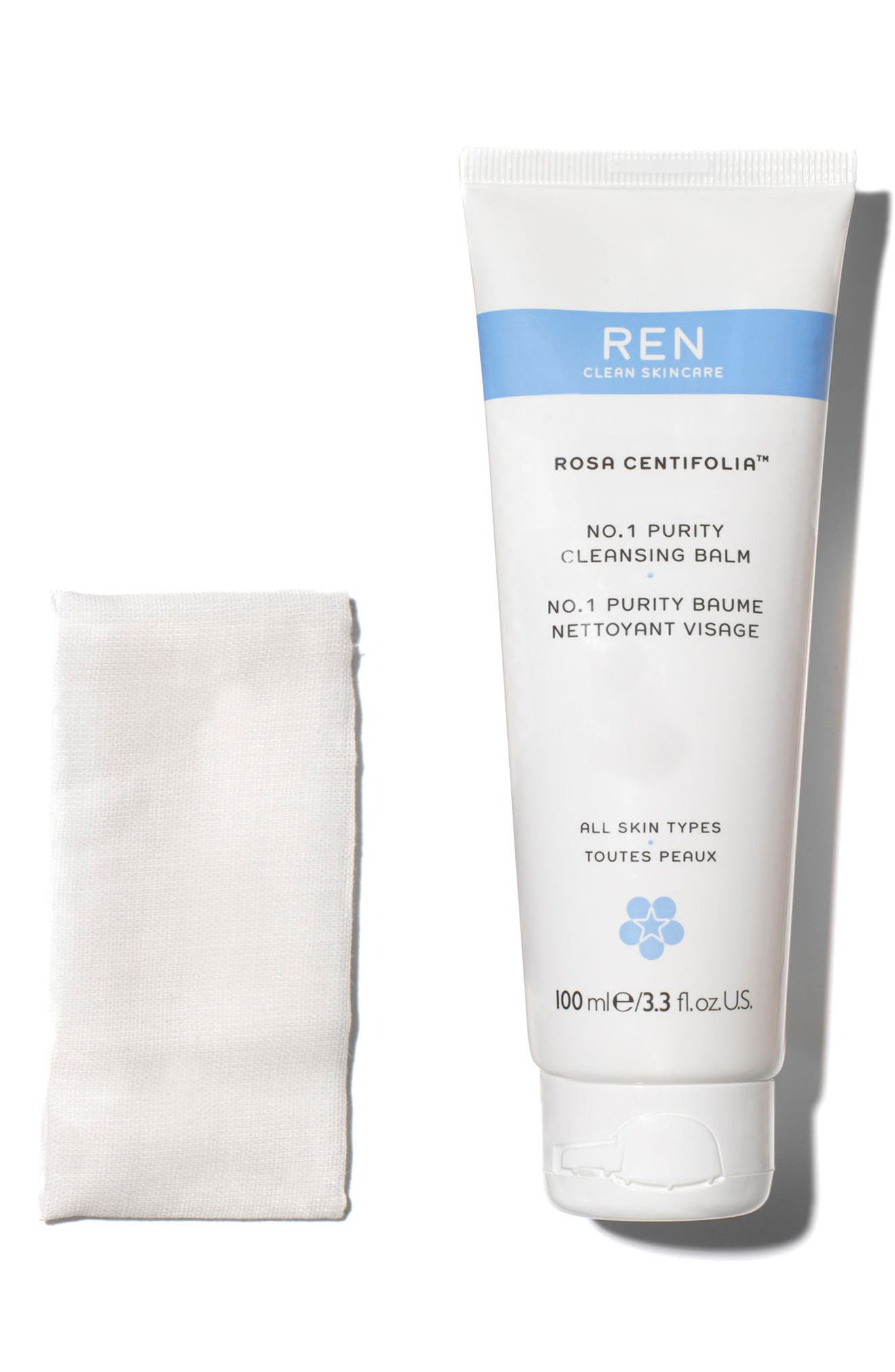 SPACE.NK.apothecary REN Rosa Centifolia No.1 Purity Cleansing Balm,                             Alternate thumbnail 3, color,                             NO COLOR