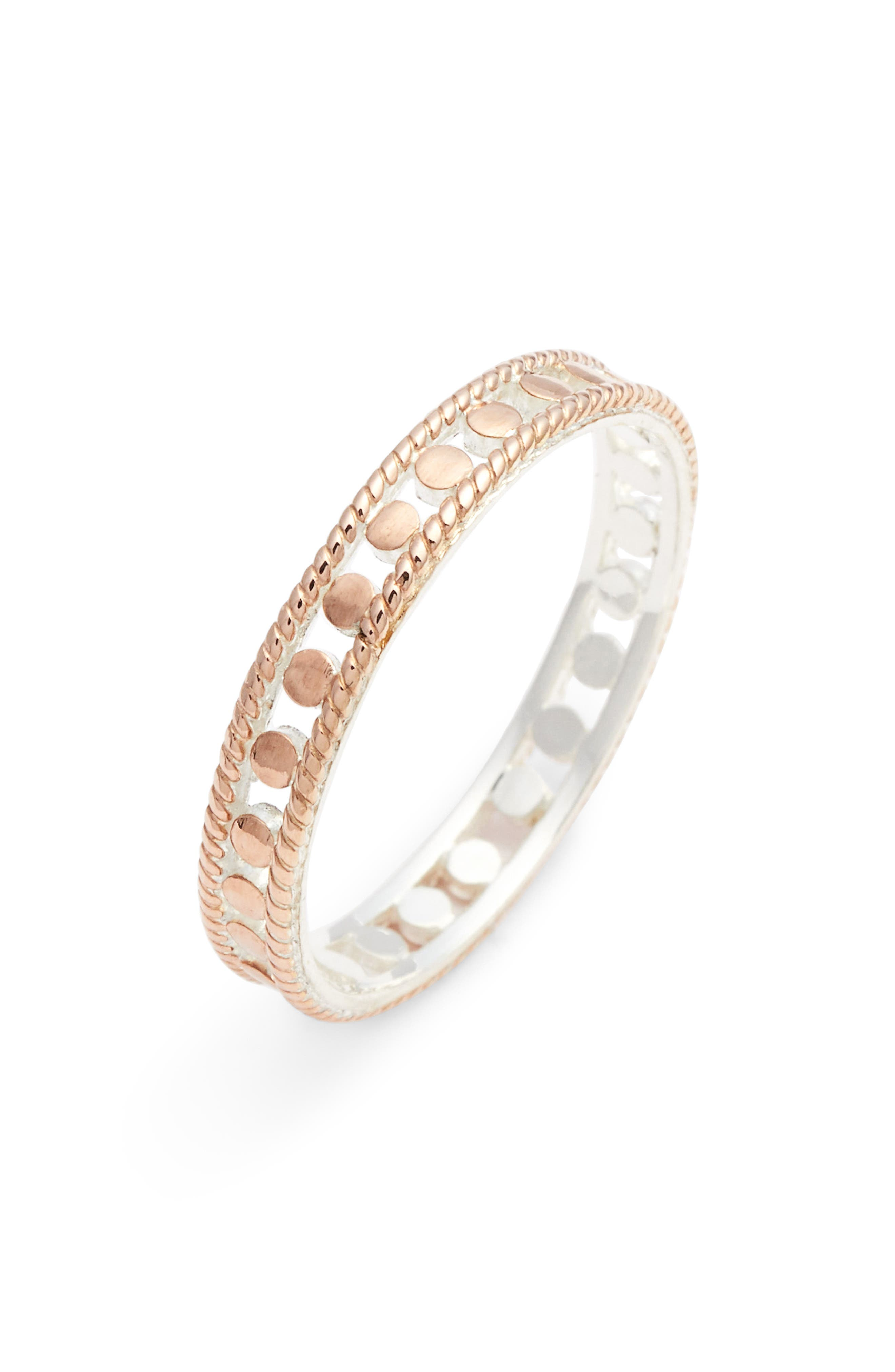 ANNA BECK Open Circle Ring in Rose Gold