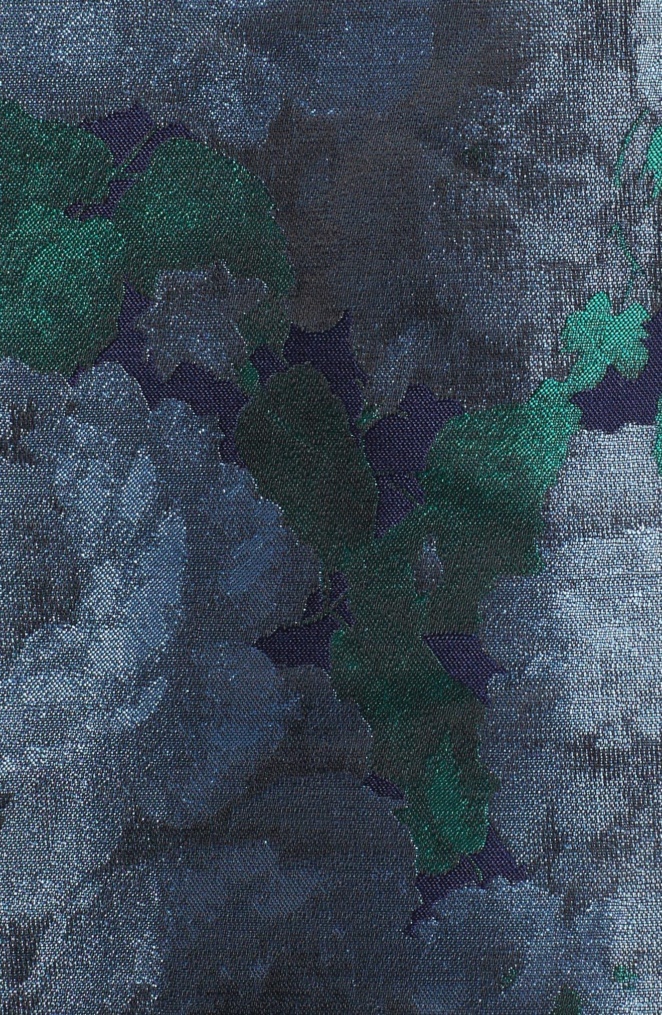Brocade High/Low Dress,                             Alternate thumbnail 5, color,                             480