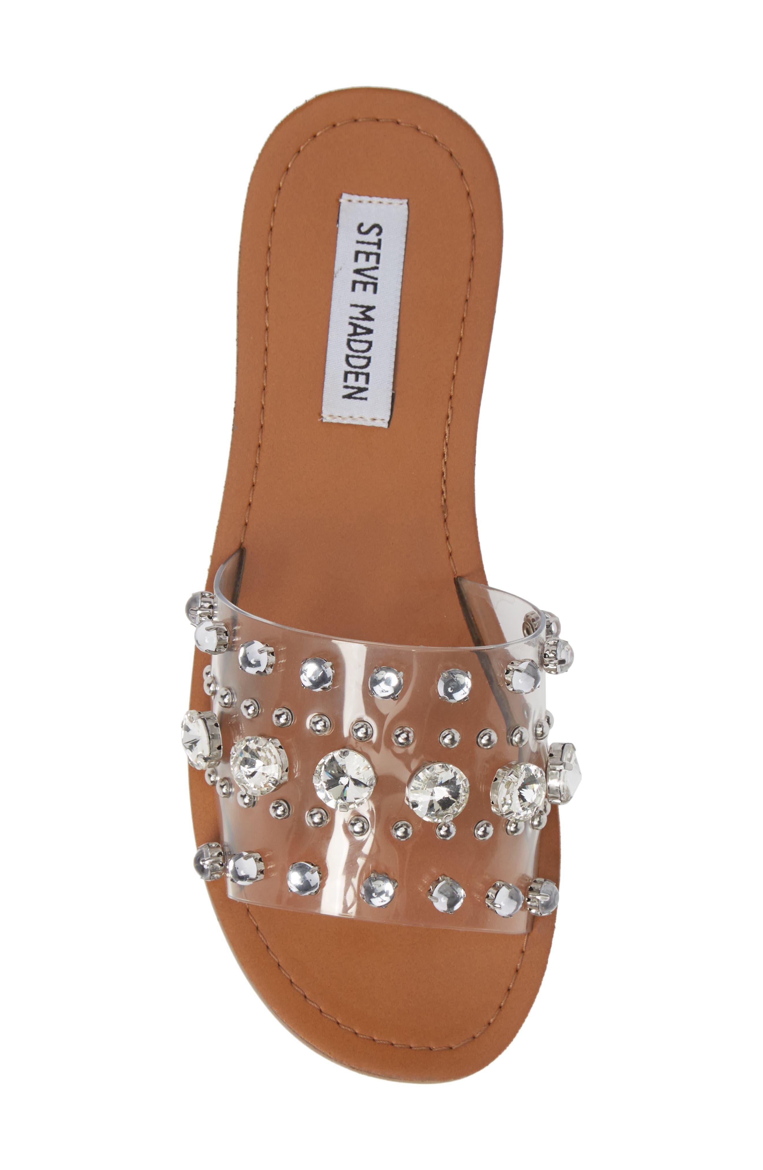 Regent Embellished Slide Sandal,                             Alternate thumbnail 5, color,                             CLEAR