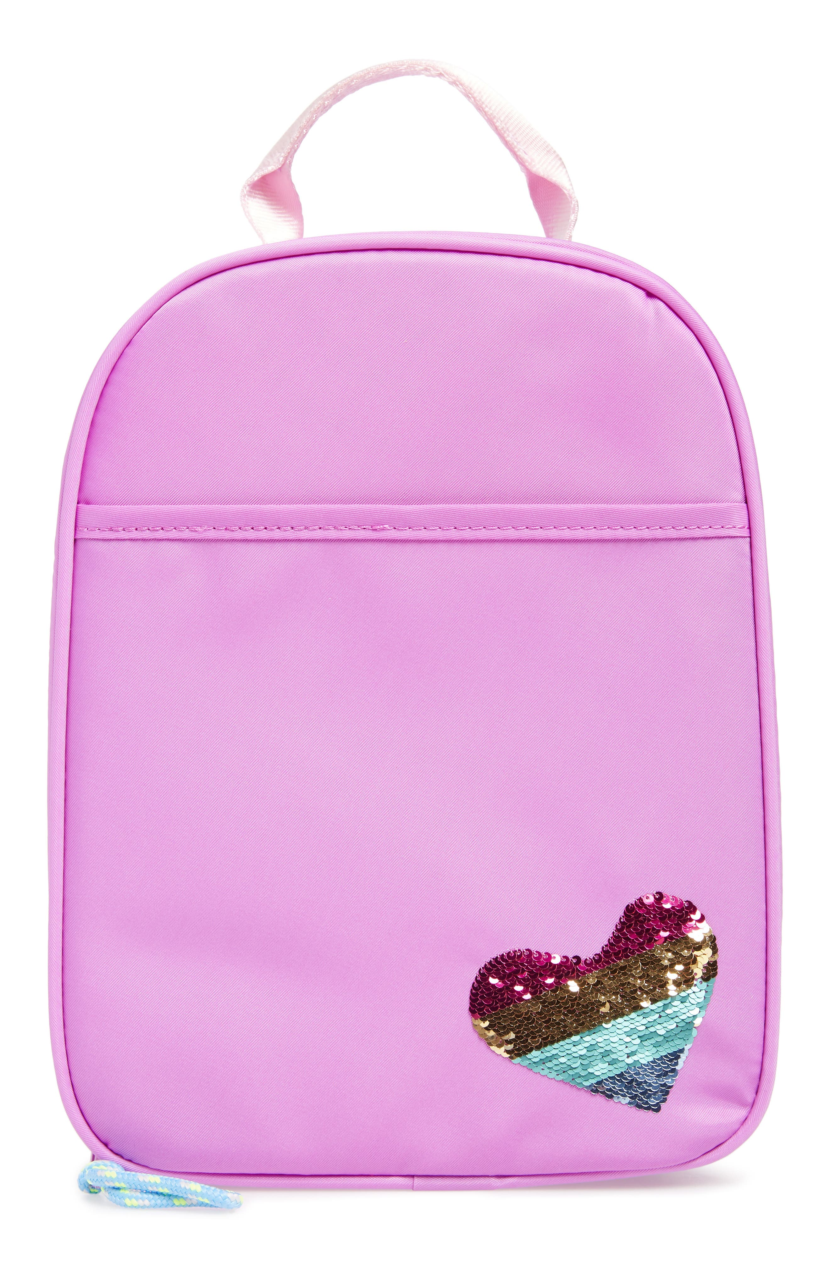 Lunchbox with Reversible Sequin Heart,                             Main thumbnail 1, color,                             950