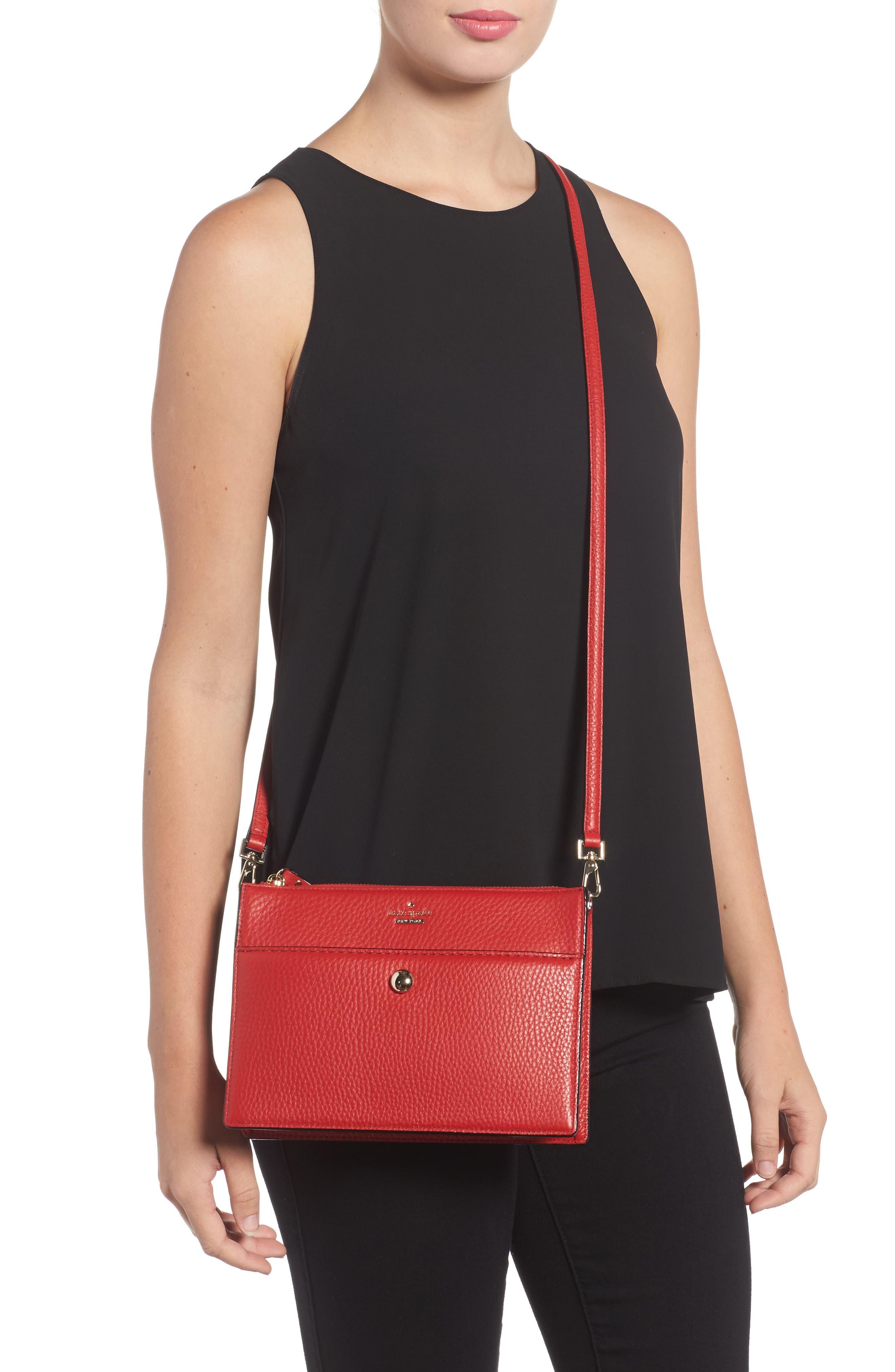 steward street clarise leather shoulder bag,                             Alternate thumbnail 6, color,
