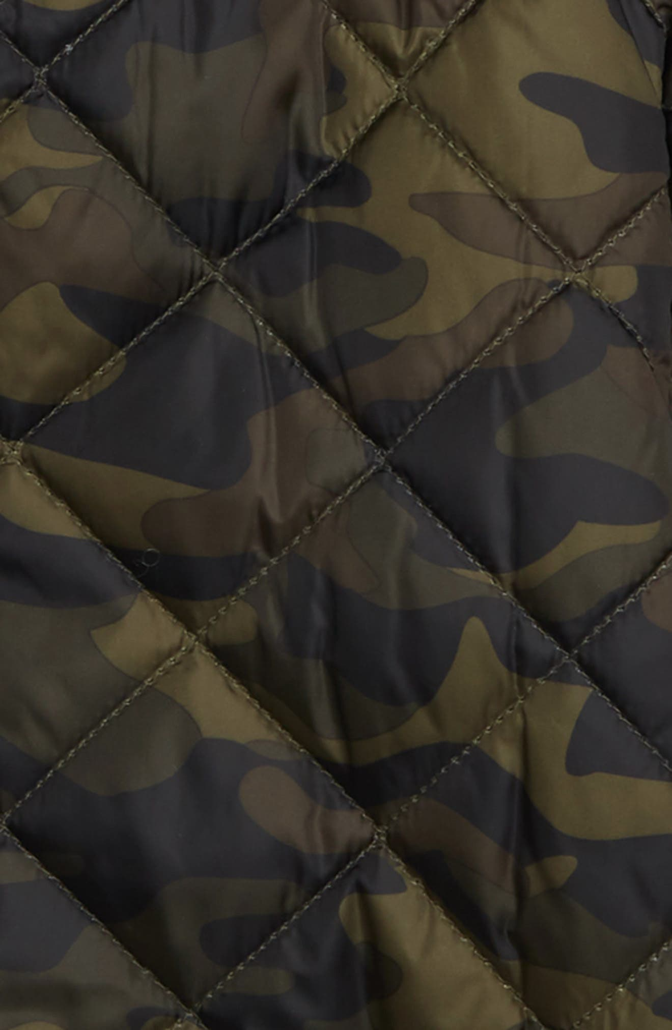 Quilted Camouflage Jacket,                             Alternate thumbnail 2, color,                             OLIVE SARMA CAMOUFLAGE