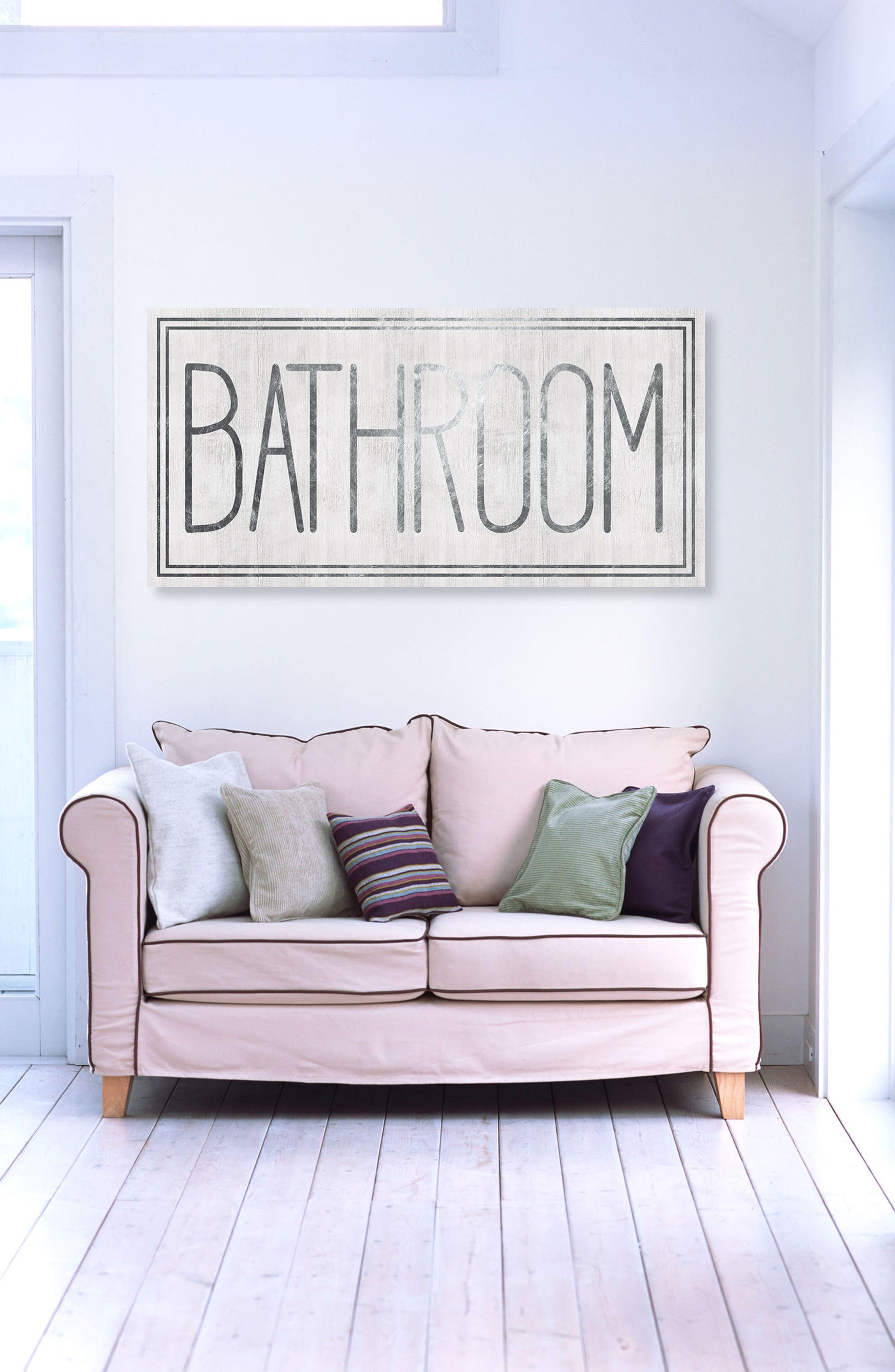 Bathroom Canvas Wall Art,                             Alternate thumbnail 2, color,                             100