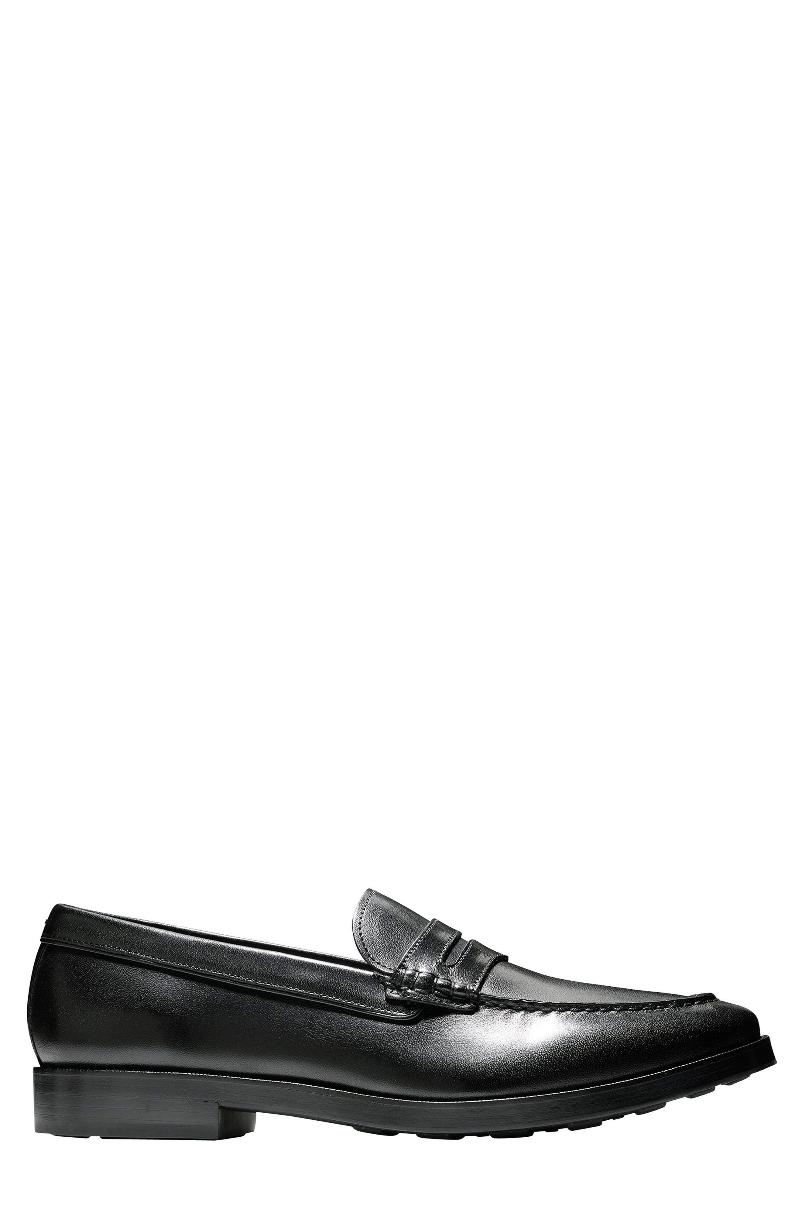 Hamilton Grand Penny Loafer,                             Alternate thumbnail 3, color,                             001