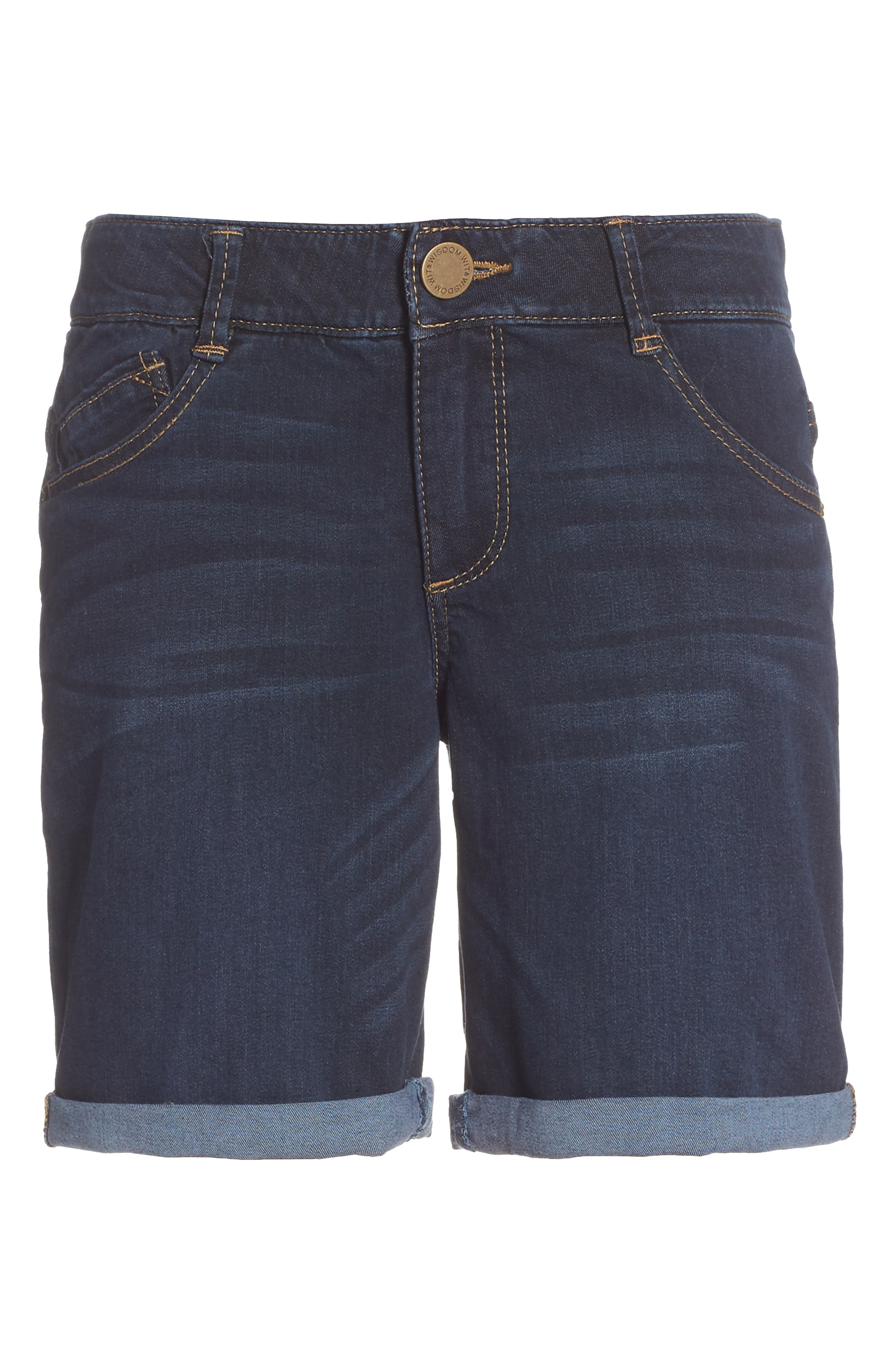 Ab-solution Cuffed Denim Shorts,                             Alternate thumbnail 6, color,                             402