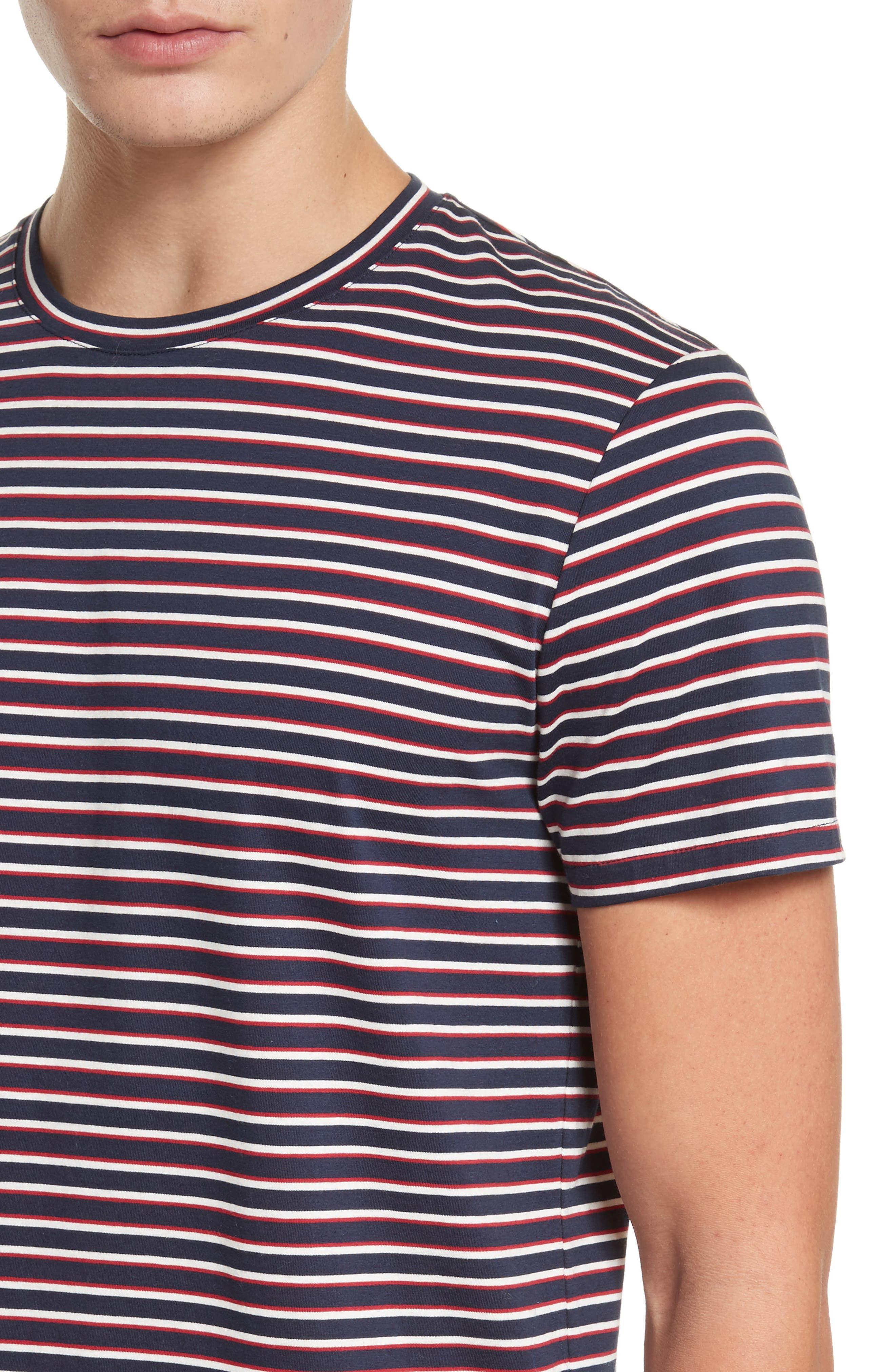 Elliot Stripe T-Shirt,                             Alternate thumbnail 4, color,                             420