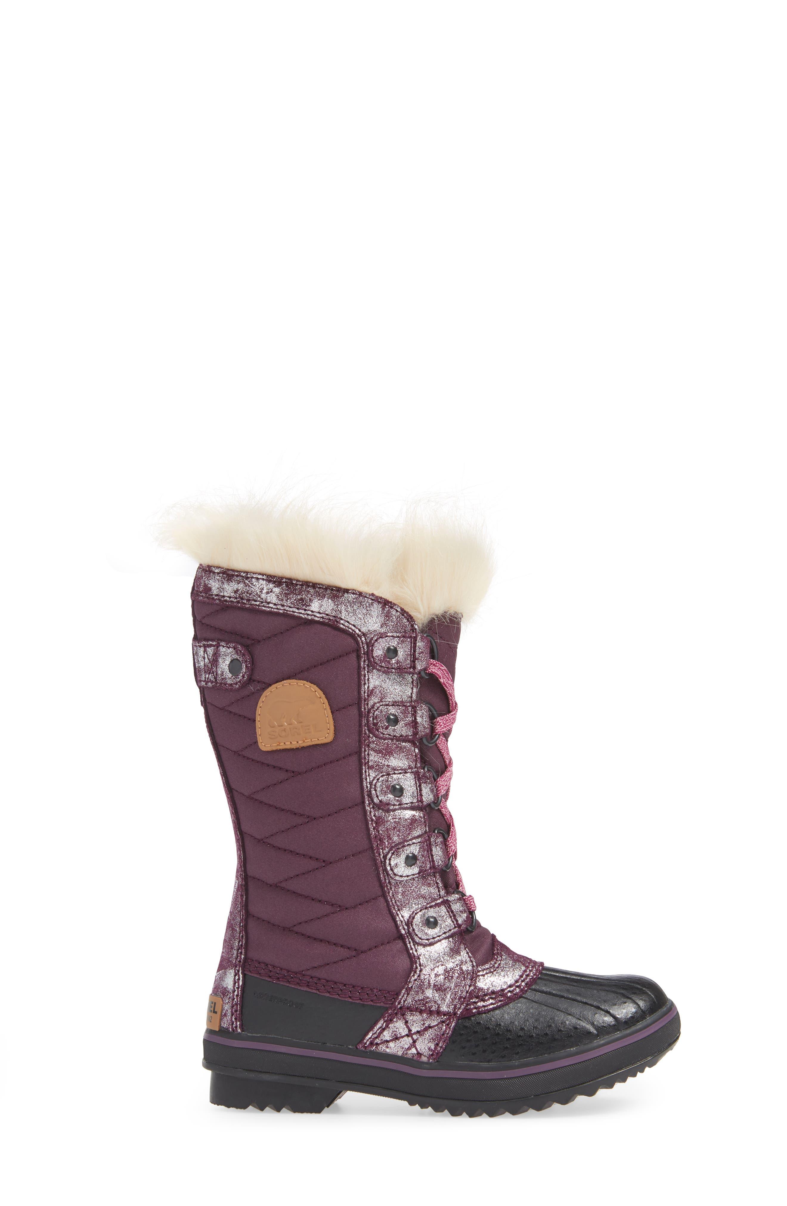 Tofino II Faux Fur Lined Waterproof Boot,                             Alternate thumbnail 3, color,                             562