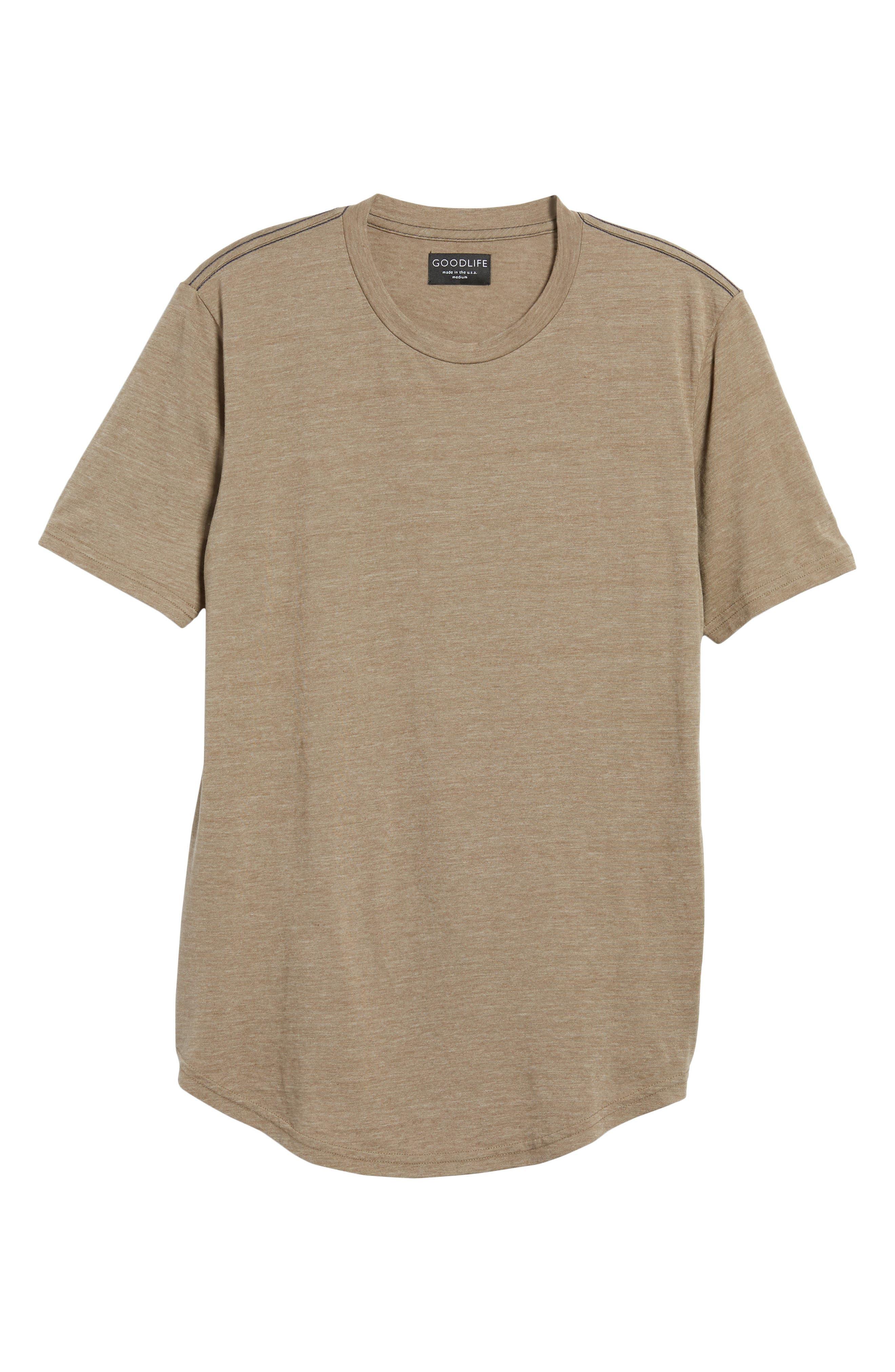 Scallop Triblend Crewneck T-Shirt,                             Alternate thumbnail 118, color,
