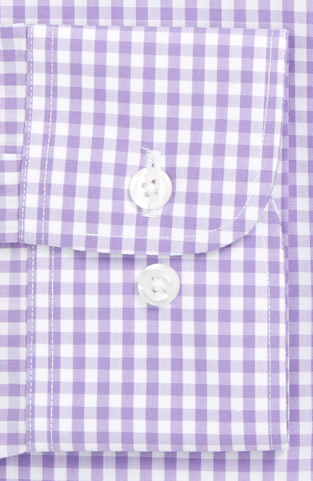 Slim Fit Wrinkle Free Check Dress Shirt,                             Alternate thumbnail 5, color,                             LILAC