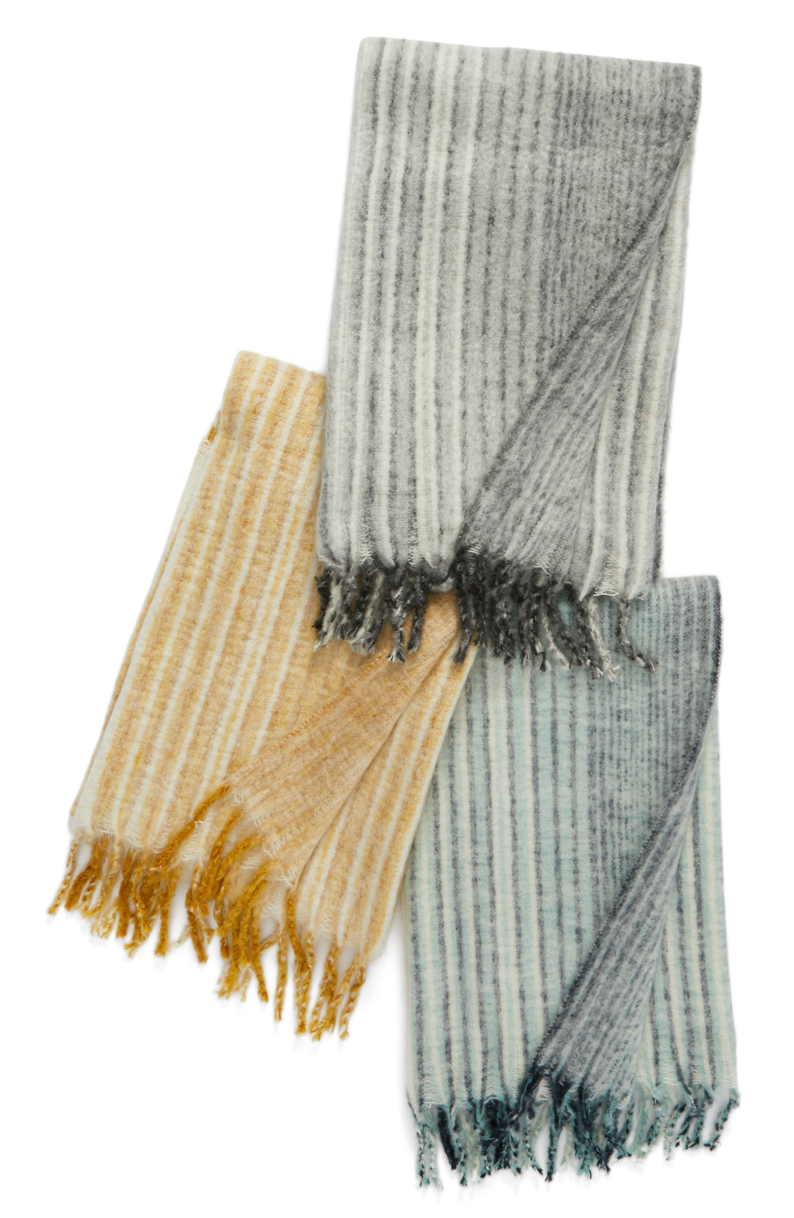 NORDSTROM AT HOME,                             Brushed Ombré Throw Blanket,                             Alternate thumbnail 3, color,                             020