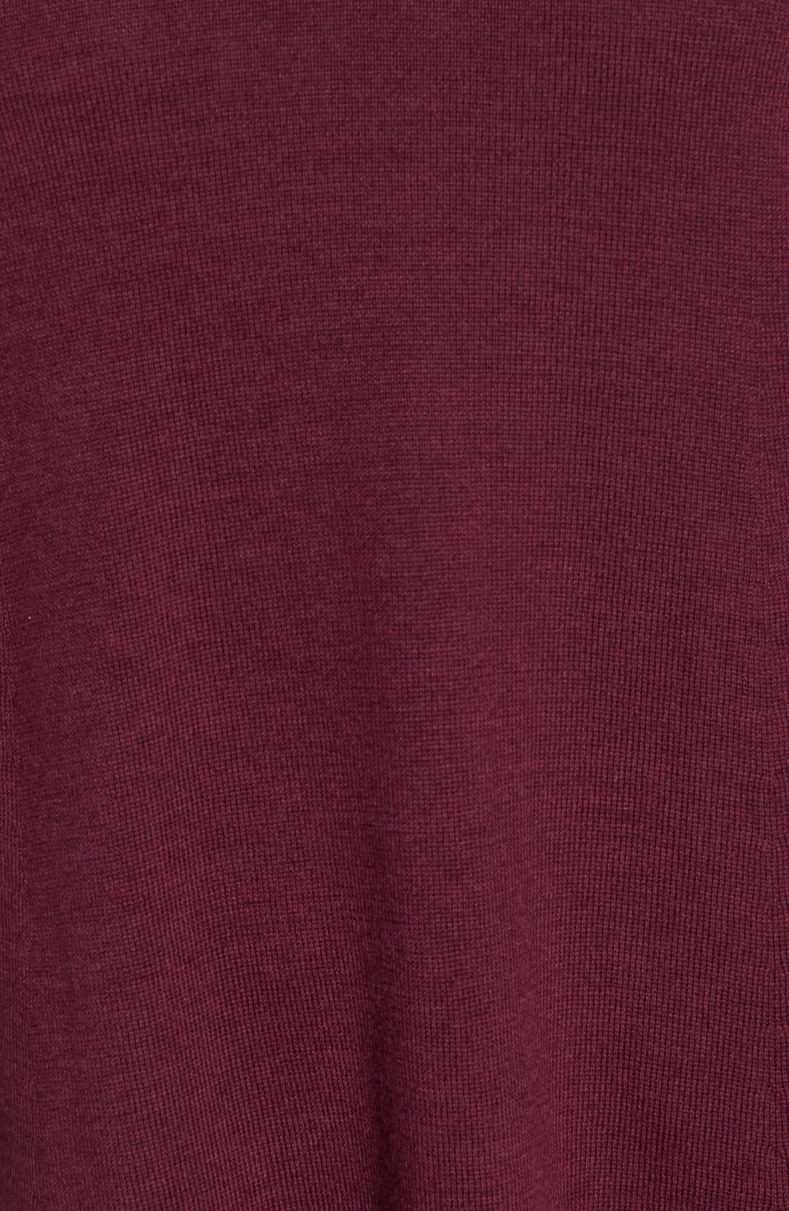Lightweight Merino Jersey V-Neck Tunic,                             Alternate thumbnail 99, color,
