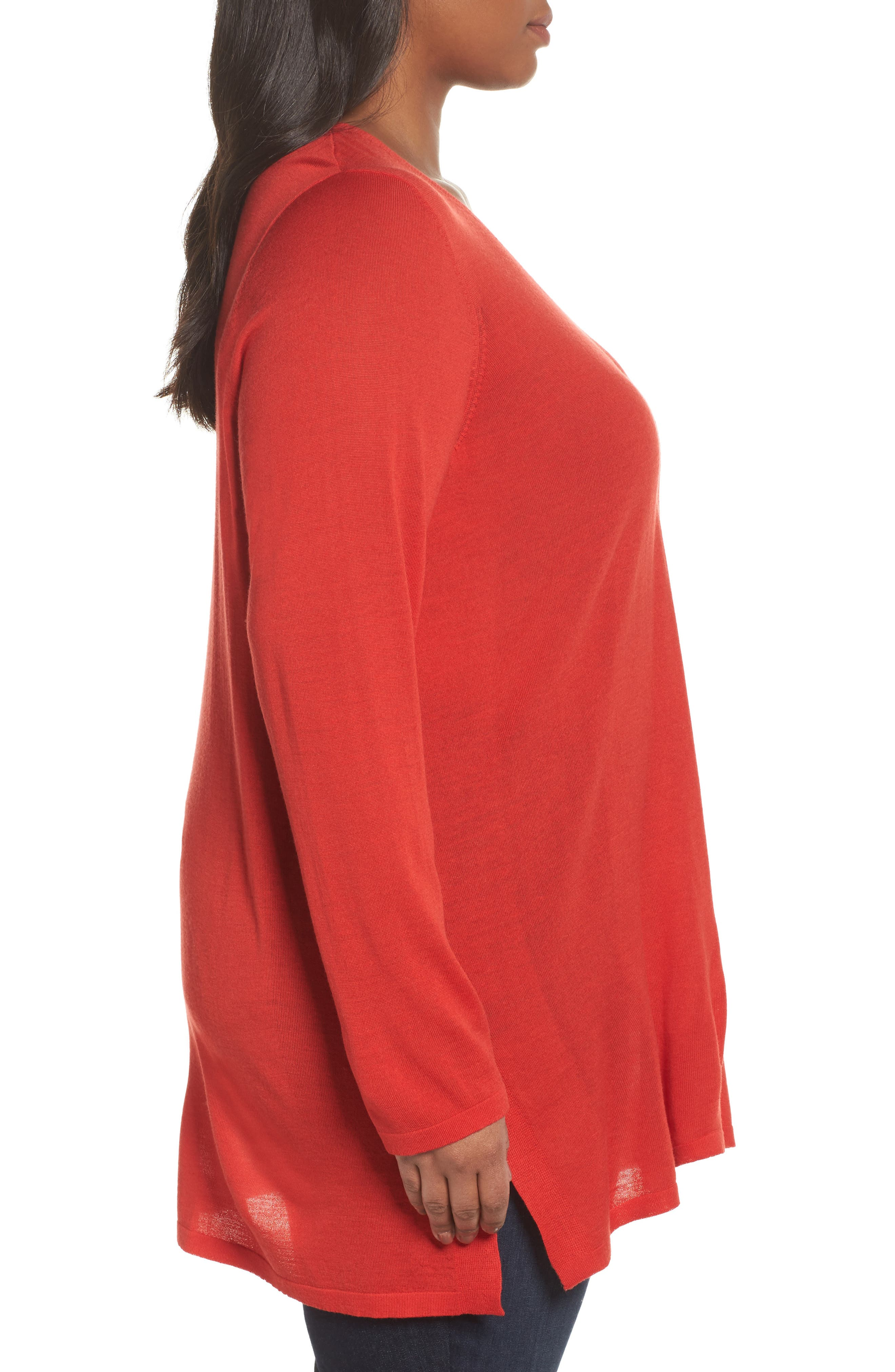 Merino Wool Tunic Sweater,                             Alternate thumbnail 15, color,