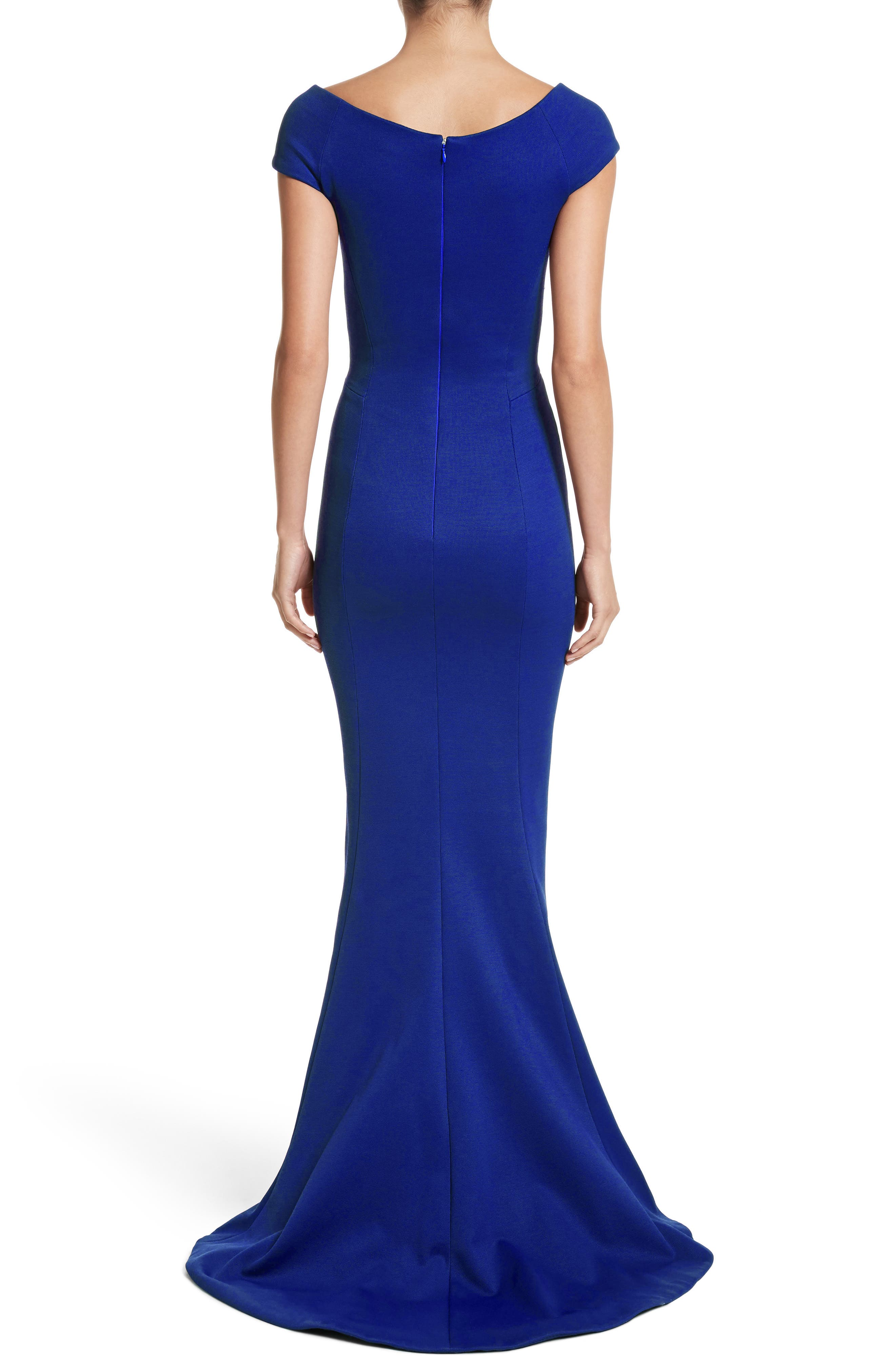 Bonded Jersey Mermaid Gown,                             Alternate thumbnail 4, color,