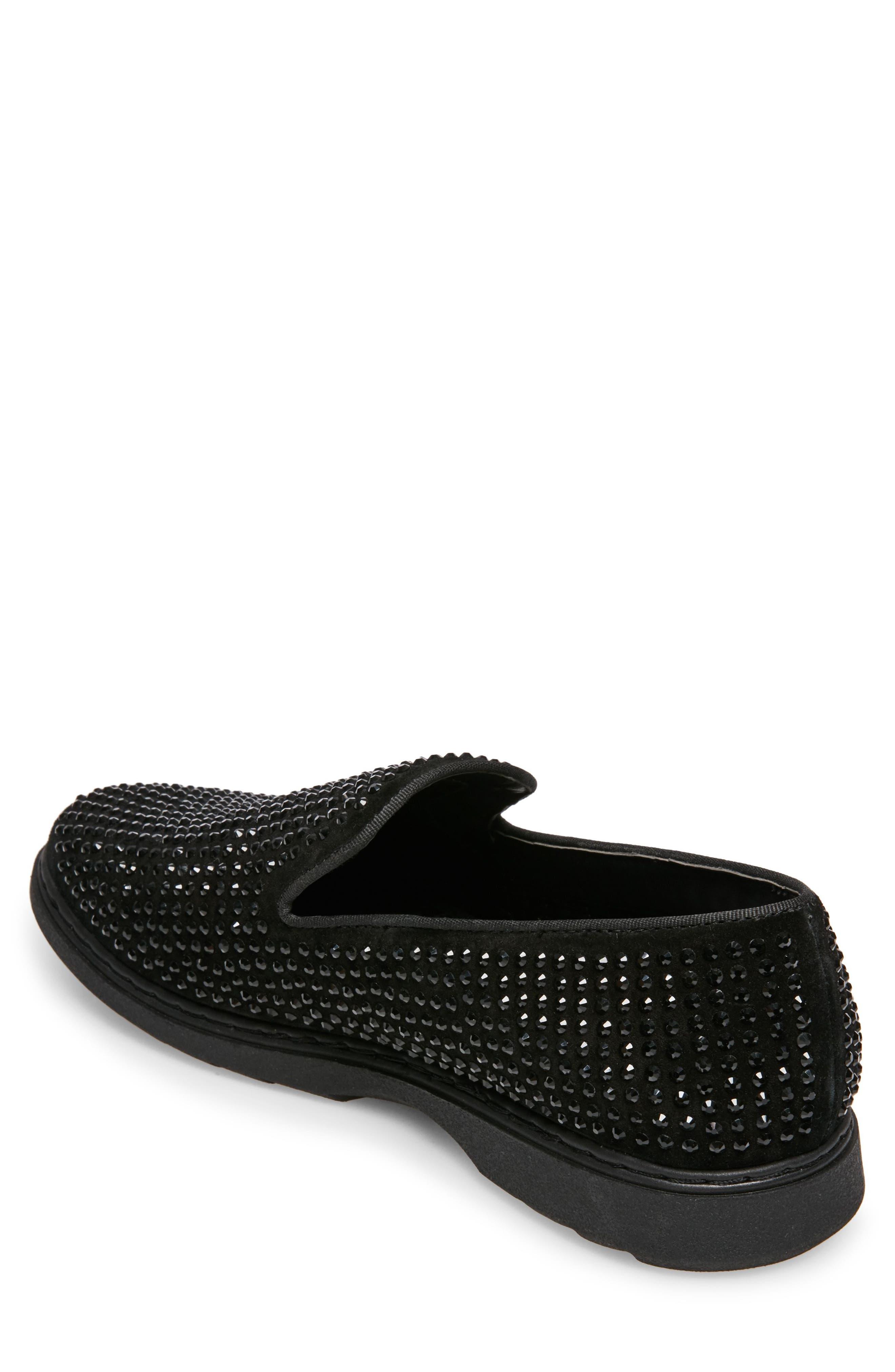 Grinder Embellished Venetian Loafer,                             Alternate thumbnail 2, color,                             BLACK LEATHER