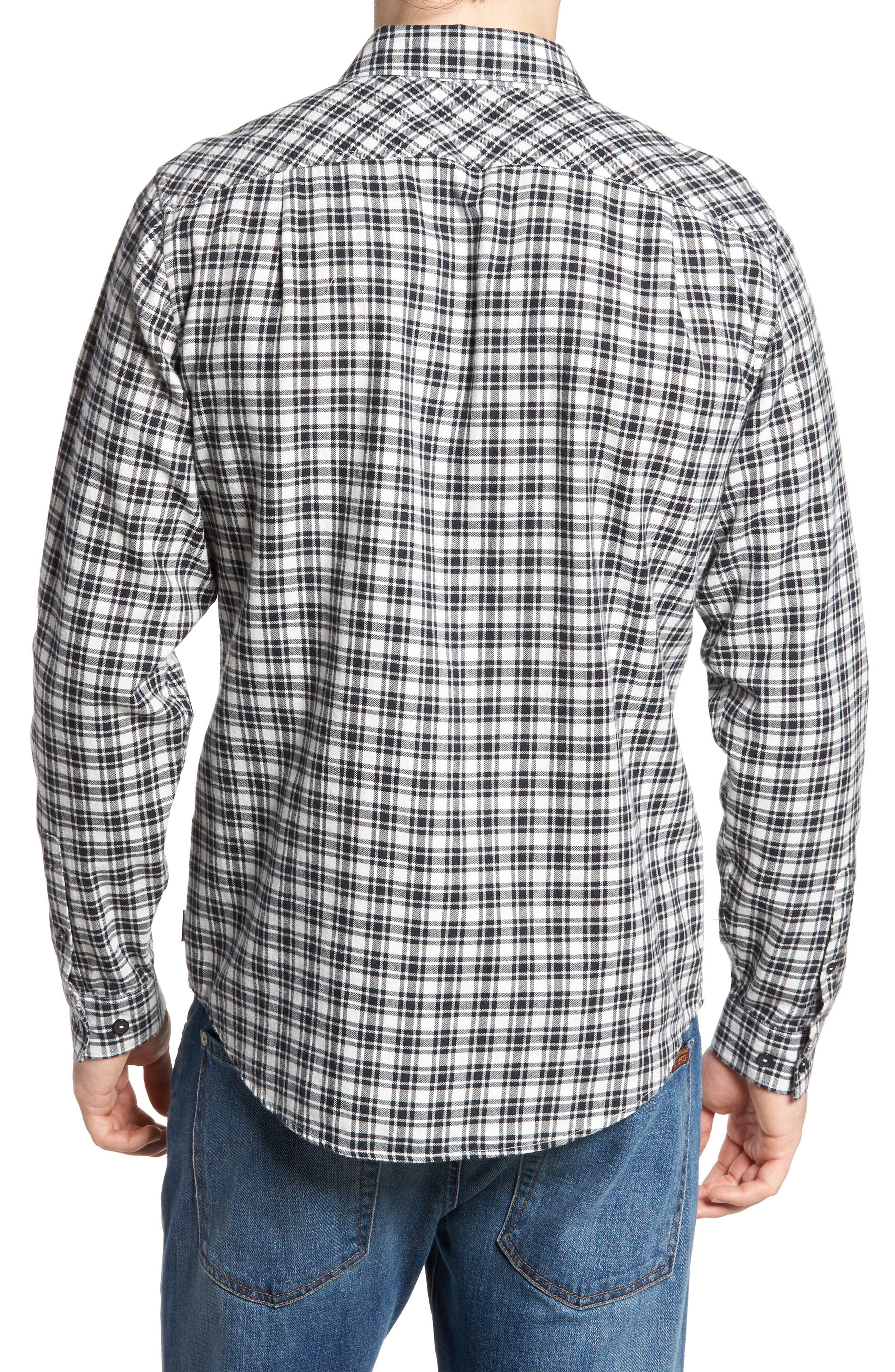 Hayes Plaid Flannel Sport Shirt,                             Alternate thumbnail 2, color,