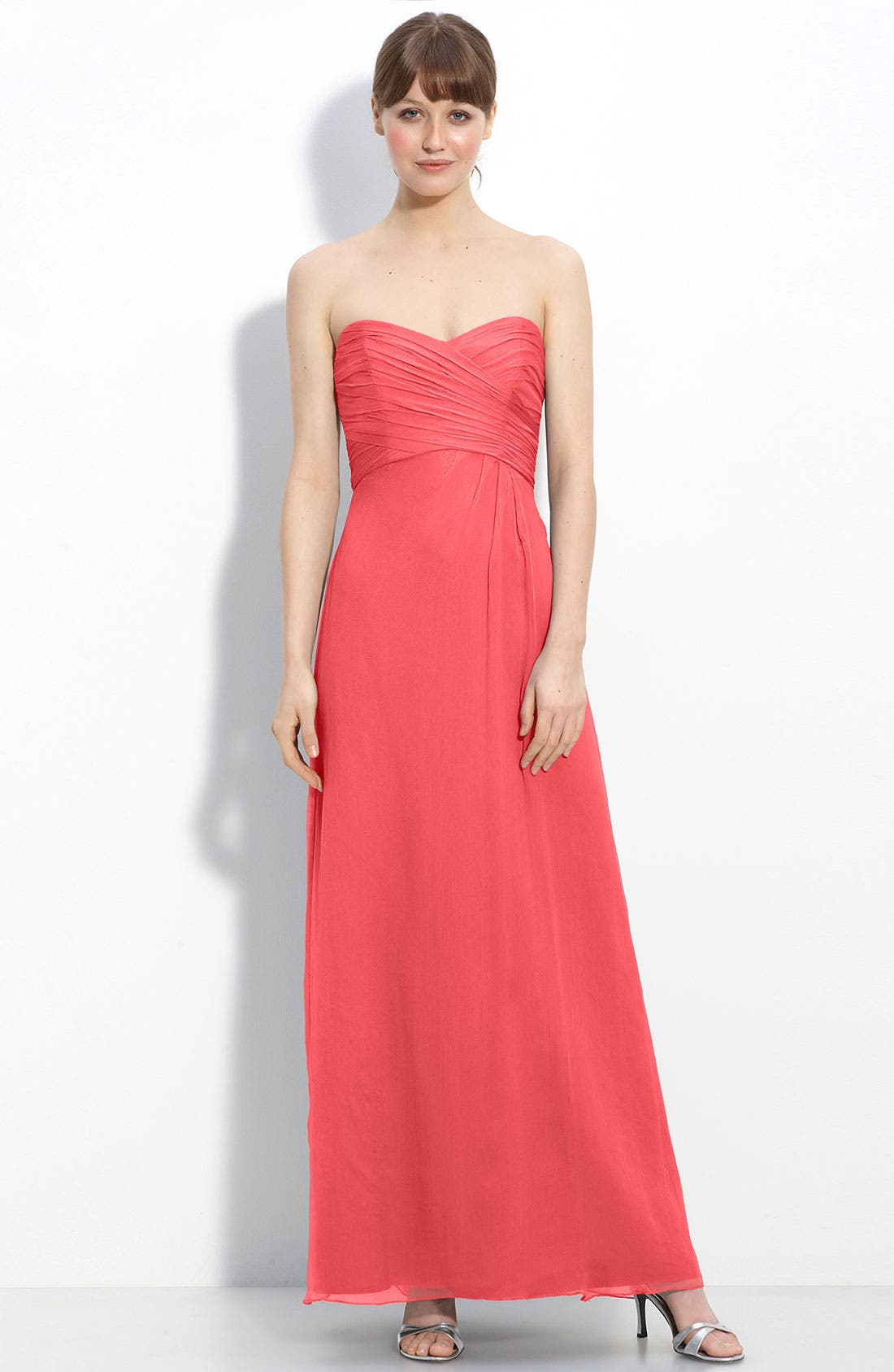 Strapless Crinkle Chiffon Gown,                             Main thumbnail 18, color,