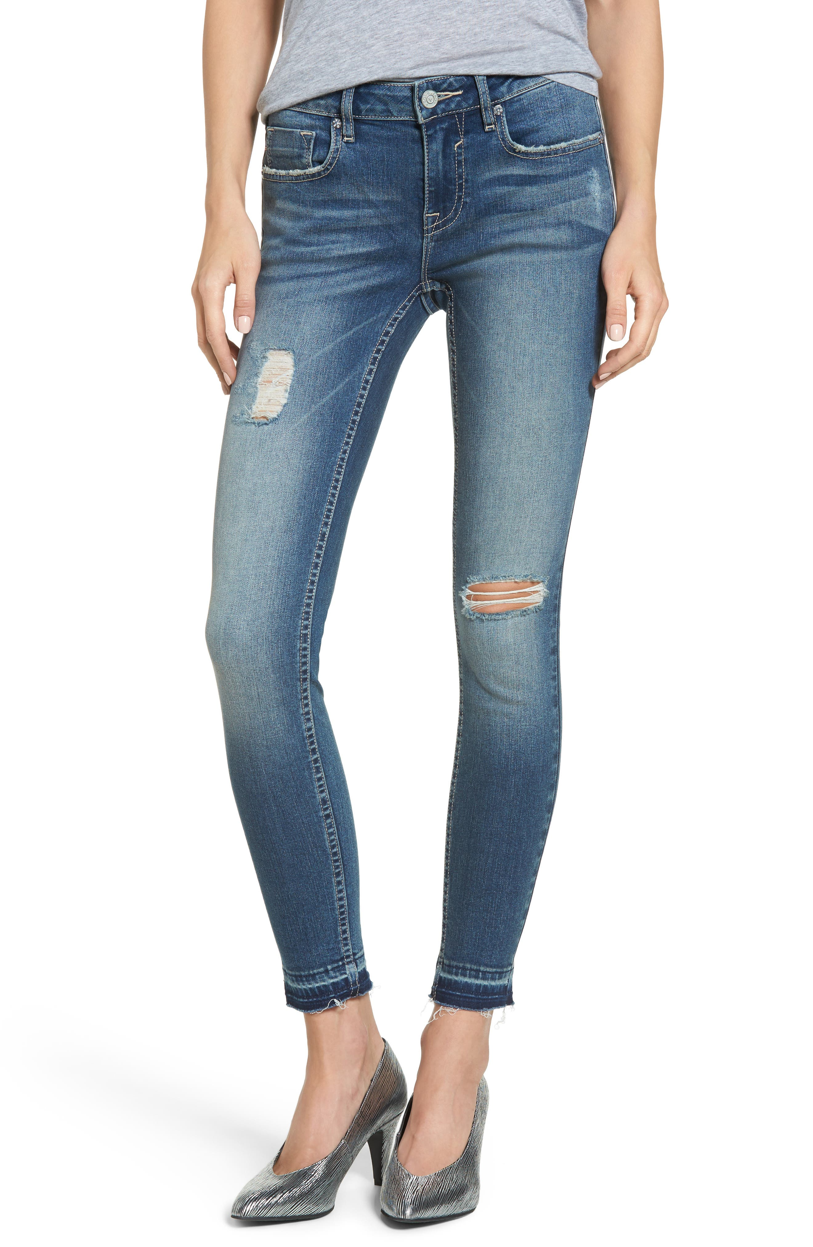 Jagger Release Hem Skinny Jeans,                             Main thumbnail 1, color,