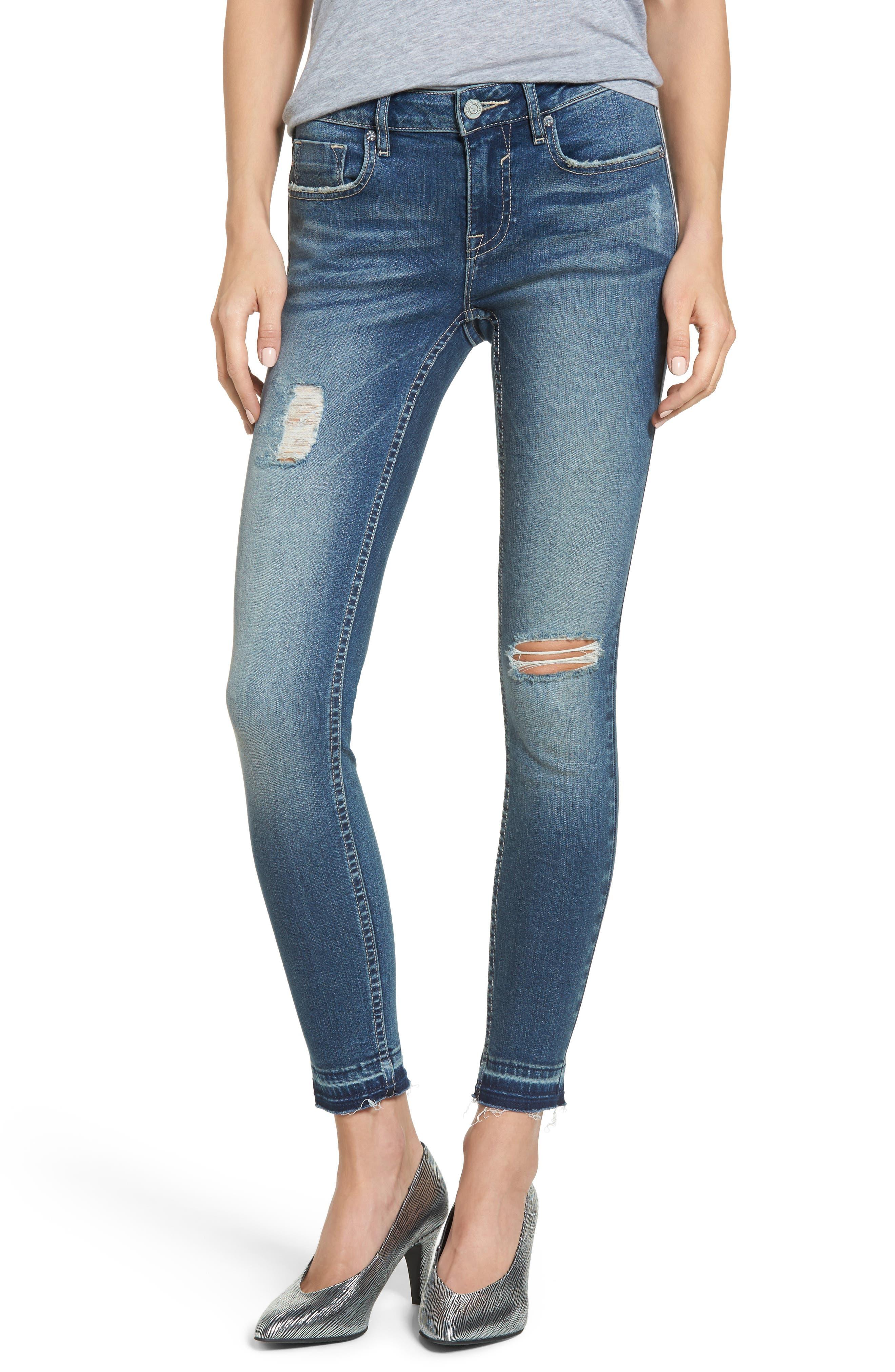 VIGOSS Jagger Release Hem Skinny Jeans, Main, color, 426